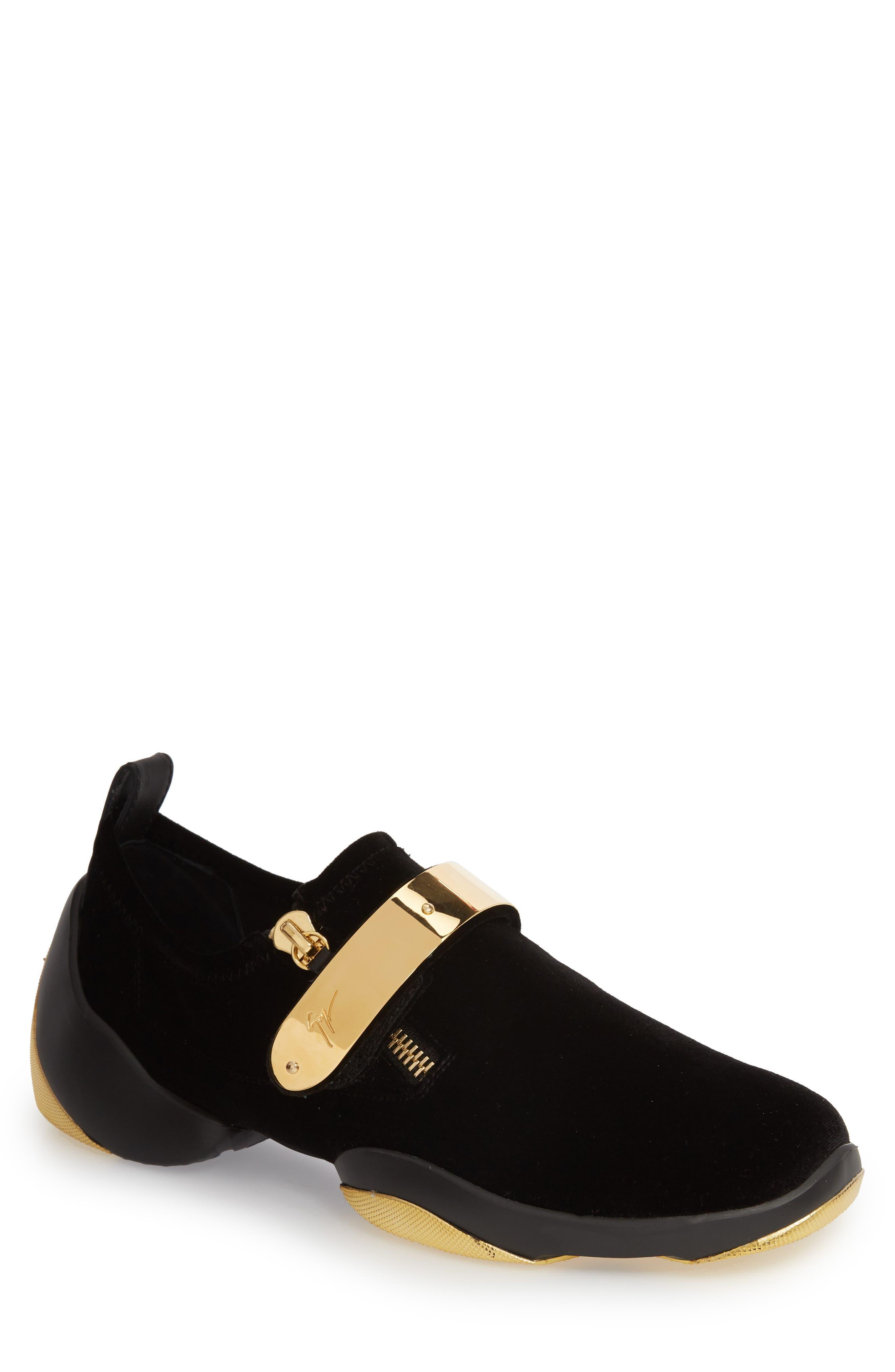 Giuseppe Zanotti Gold Bar Sneaker (Men)