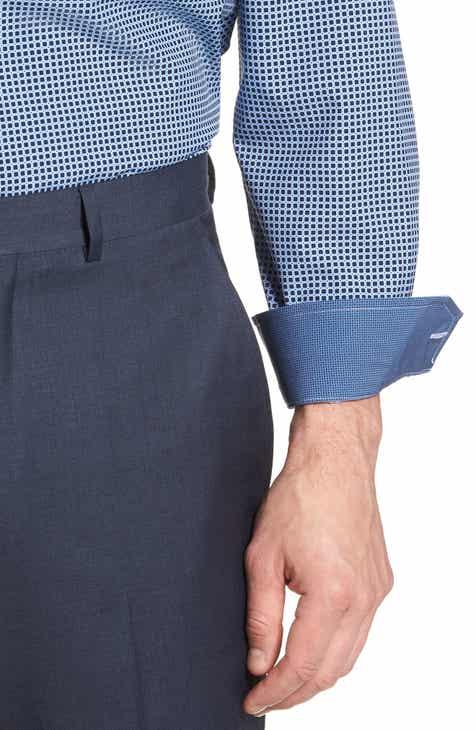 W.R.K Trim Fit Check 4-Way Stretch Dress Shirt
