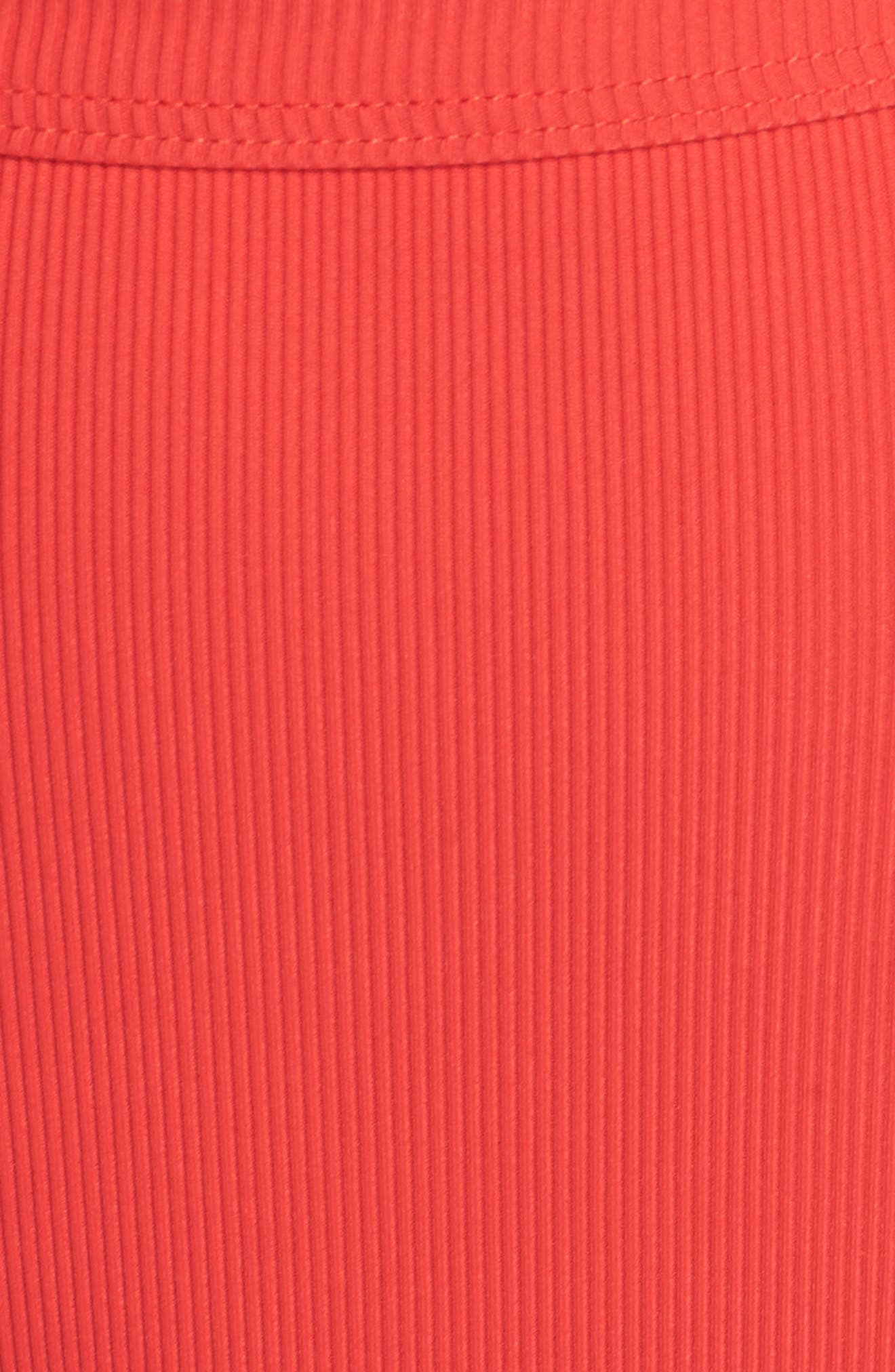 Ribbed Swim Bottoms,                             Alternate thumbnail 8, color,                             Red