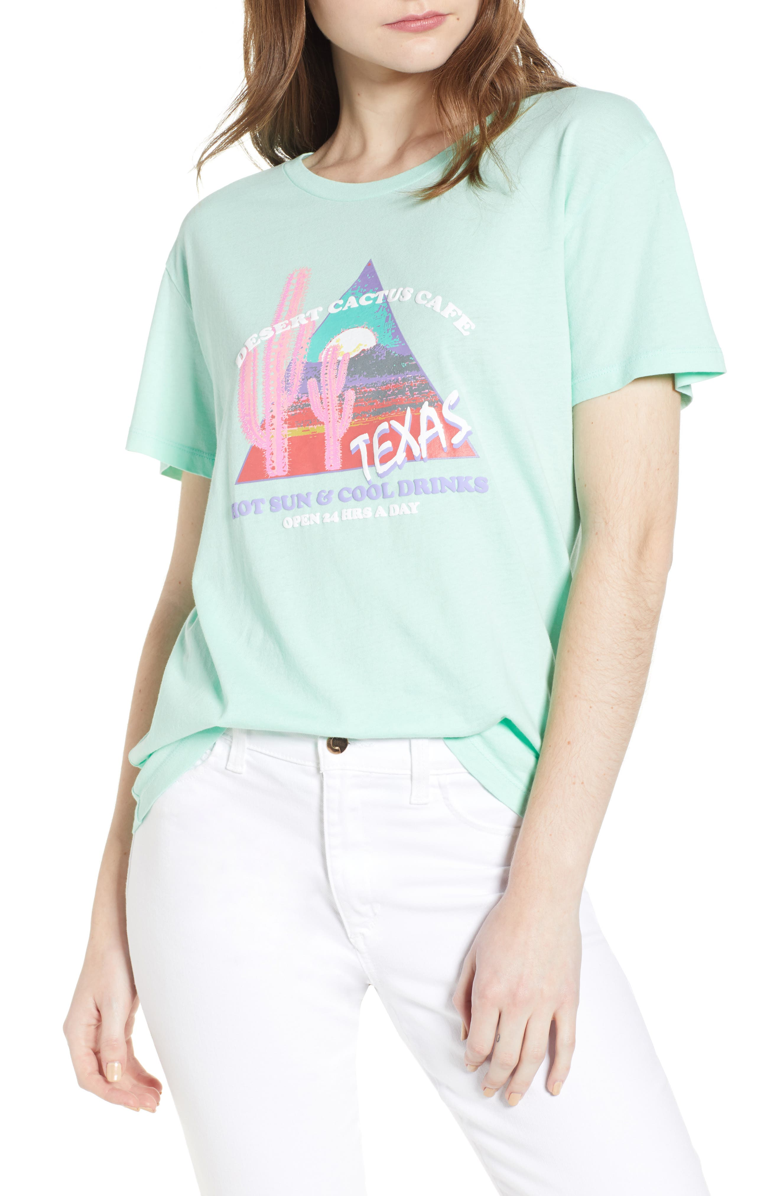 Texas Tee,                         Main,                         color, Washed Mint