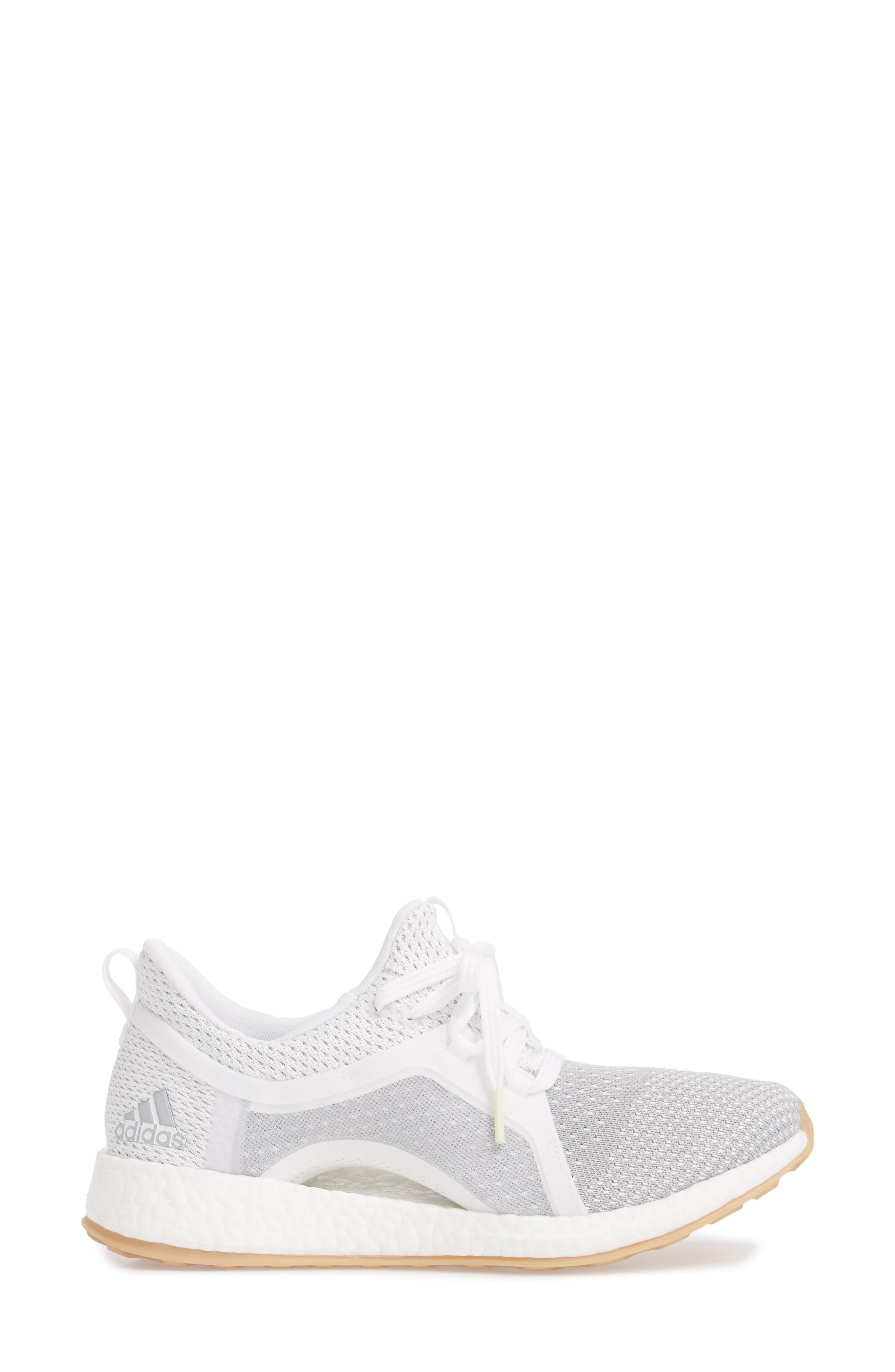 Pureboost X Clima Sneaker,                             Alternate thumbnail 3, color,                             White/ Silver/ Grey