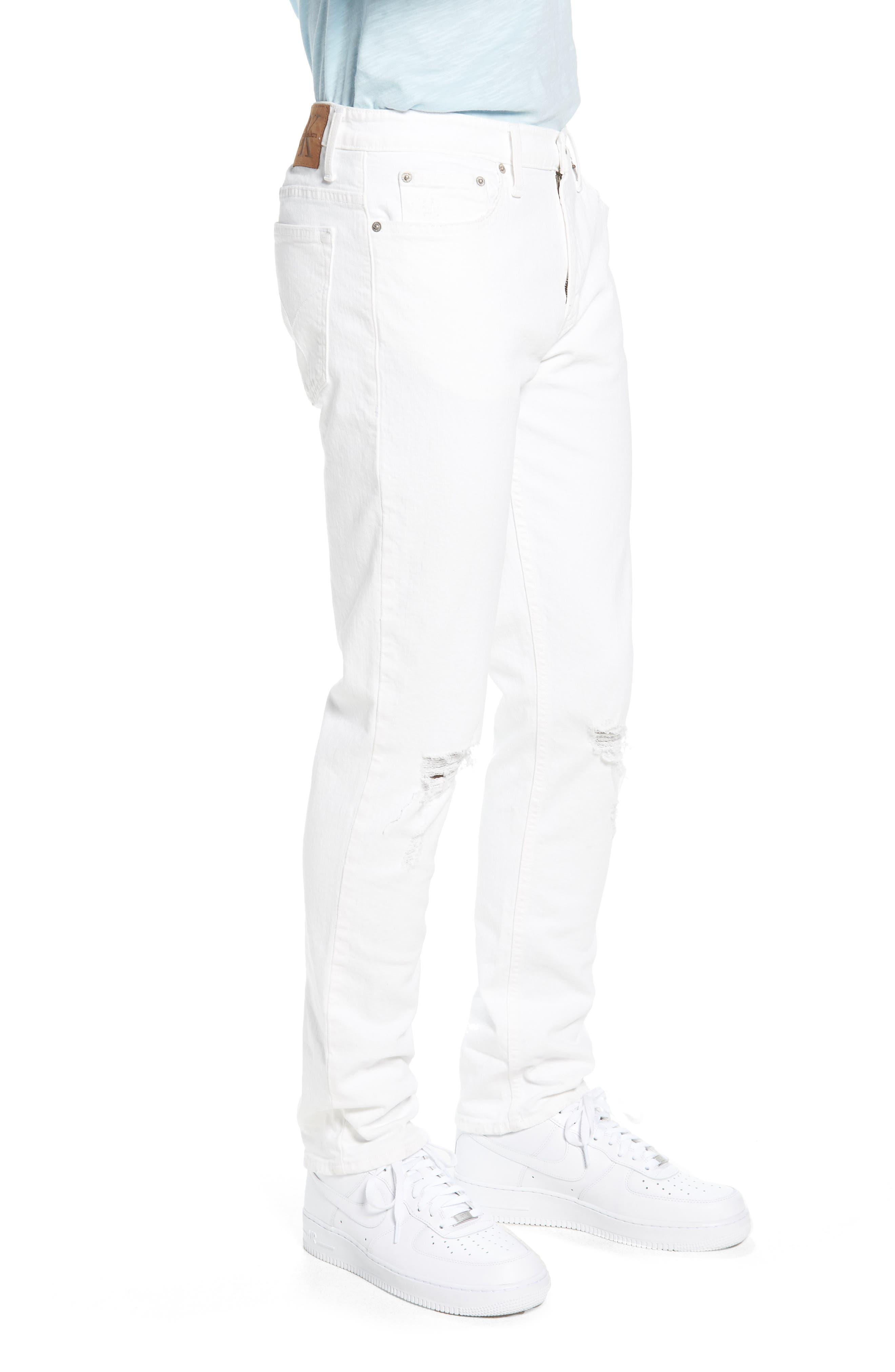 Skinny Jeans,                             Alternate thumbnail 3, color,                             Door White Destruct