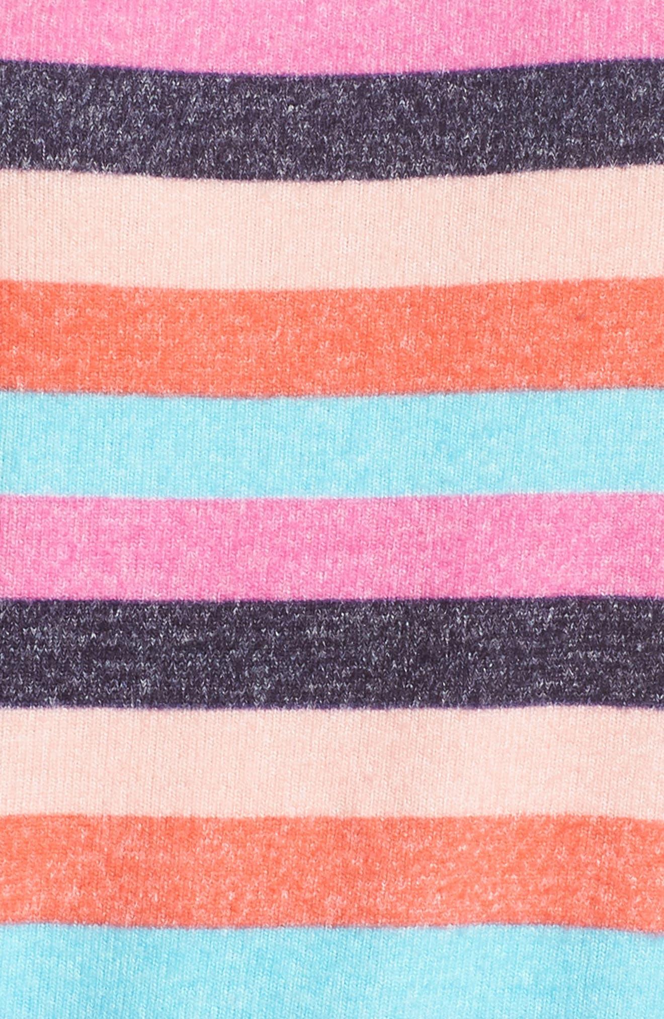 Cozy Crew Raglan Sweatshirt,                             Alternate thumbnail 5, color,                             Navy Dusk Milli Multi Stripe