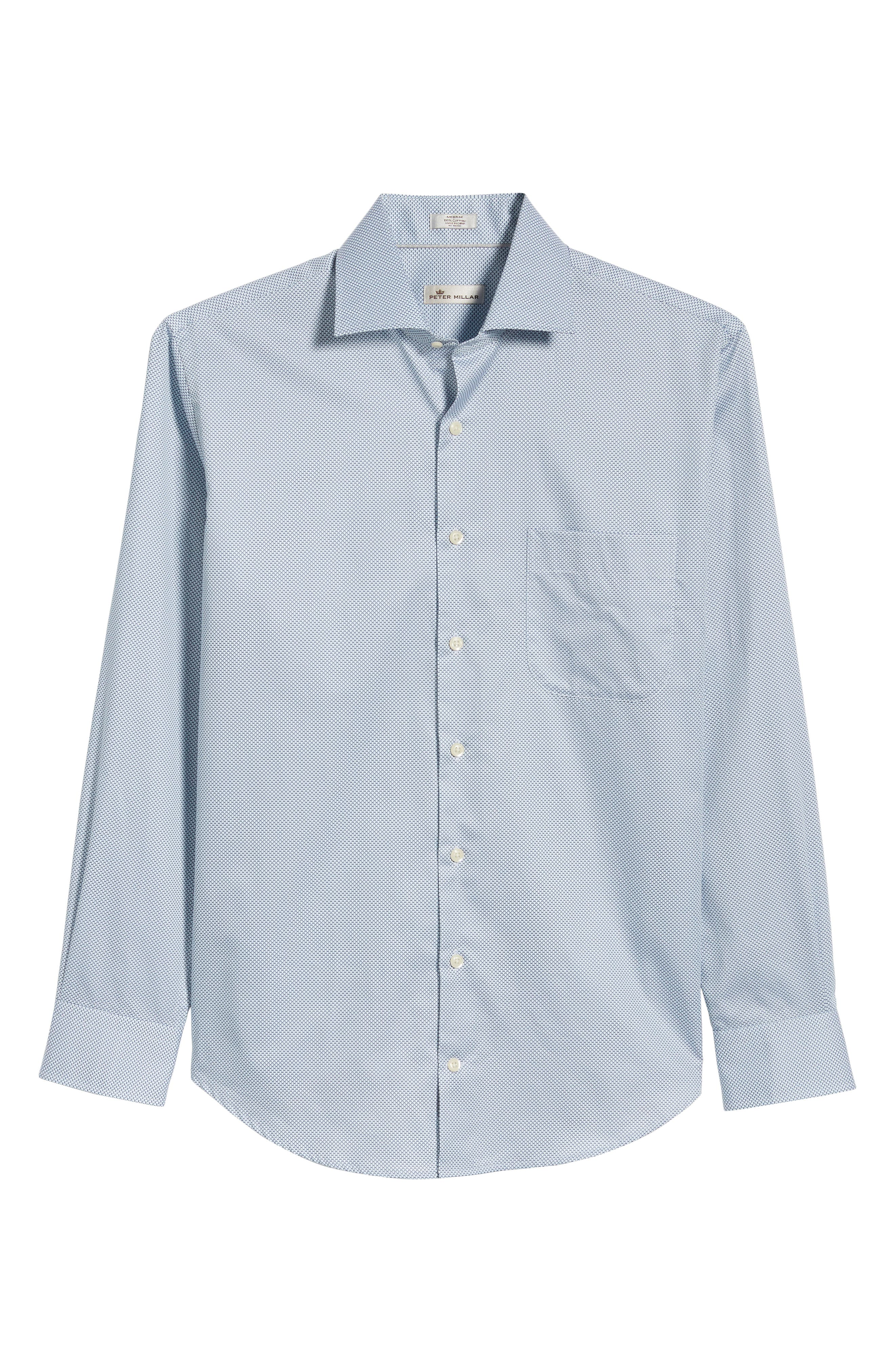 Off the Scale Print Sport Shirt,                             Alternate thumbnail 6, color,                             White