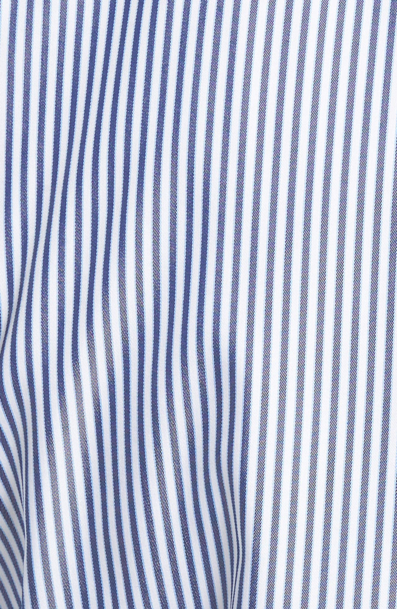 Crown Soft Avery Regular Fit Stripe Sport Shirt,                             Alternate thumbnail 4, color,                             Yankee Blue