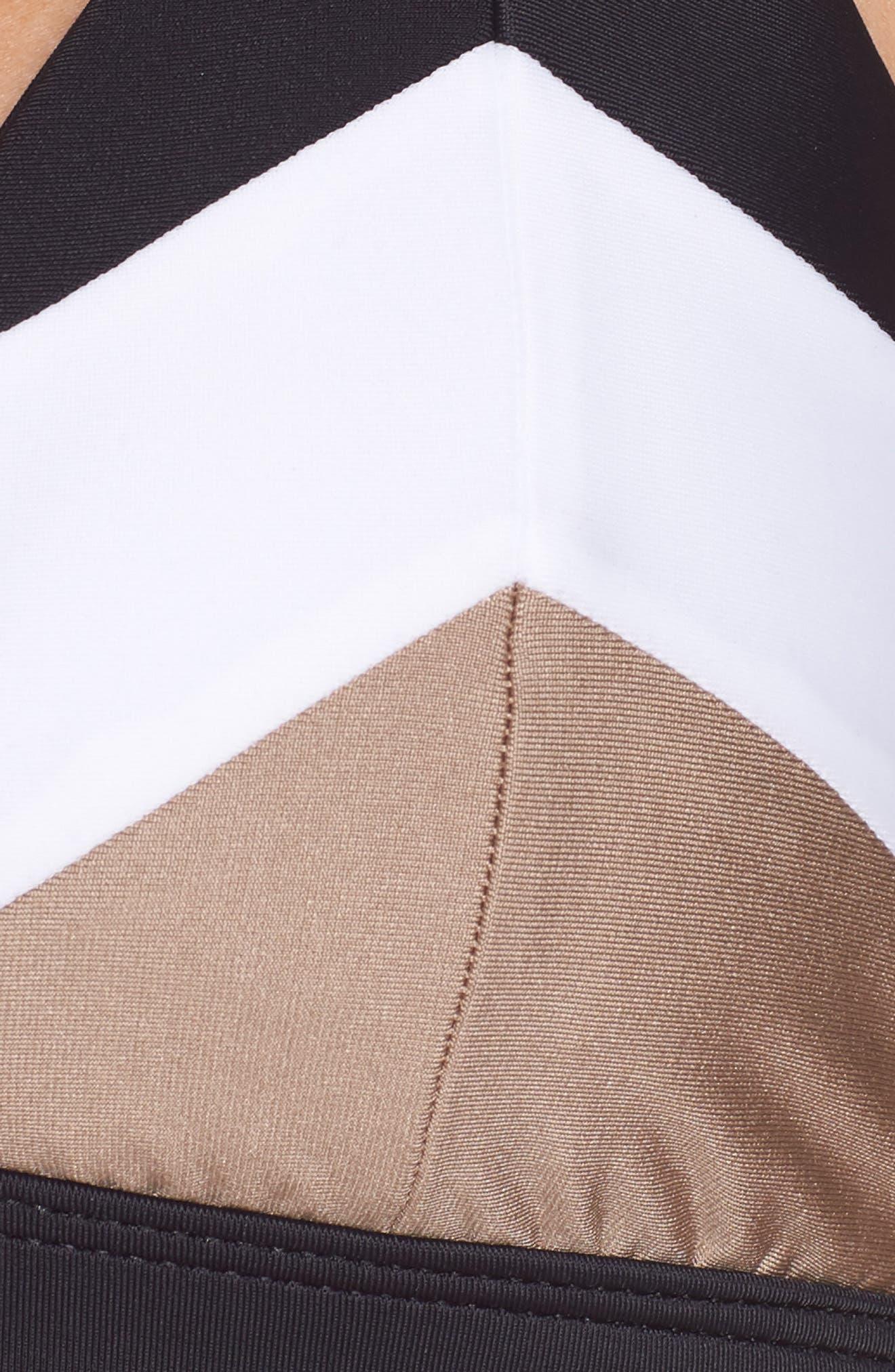 Colorblock Triangle Bikini Top,                             Alternate thumbnail 8, color,                             Cadillac
