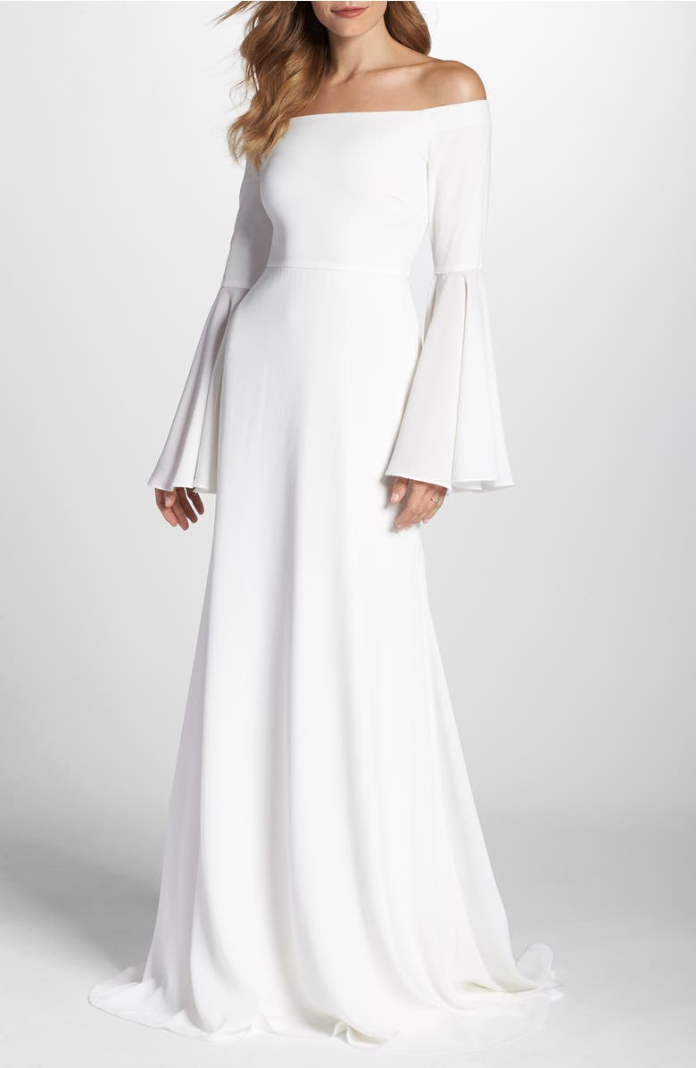 K'Mich Weddings - wedding planning - wedding dresses - affordable - Joanna August Bowie Off the Shoulder Bell Sleeve Gown - Nordstrom