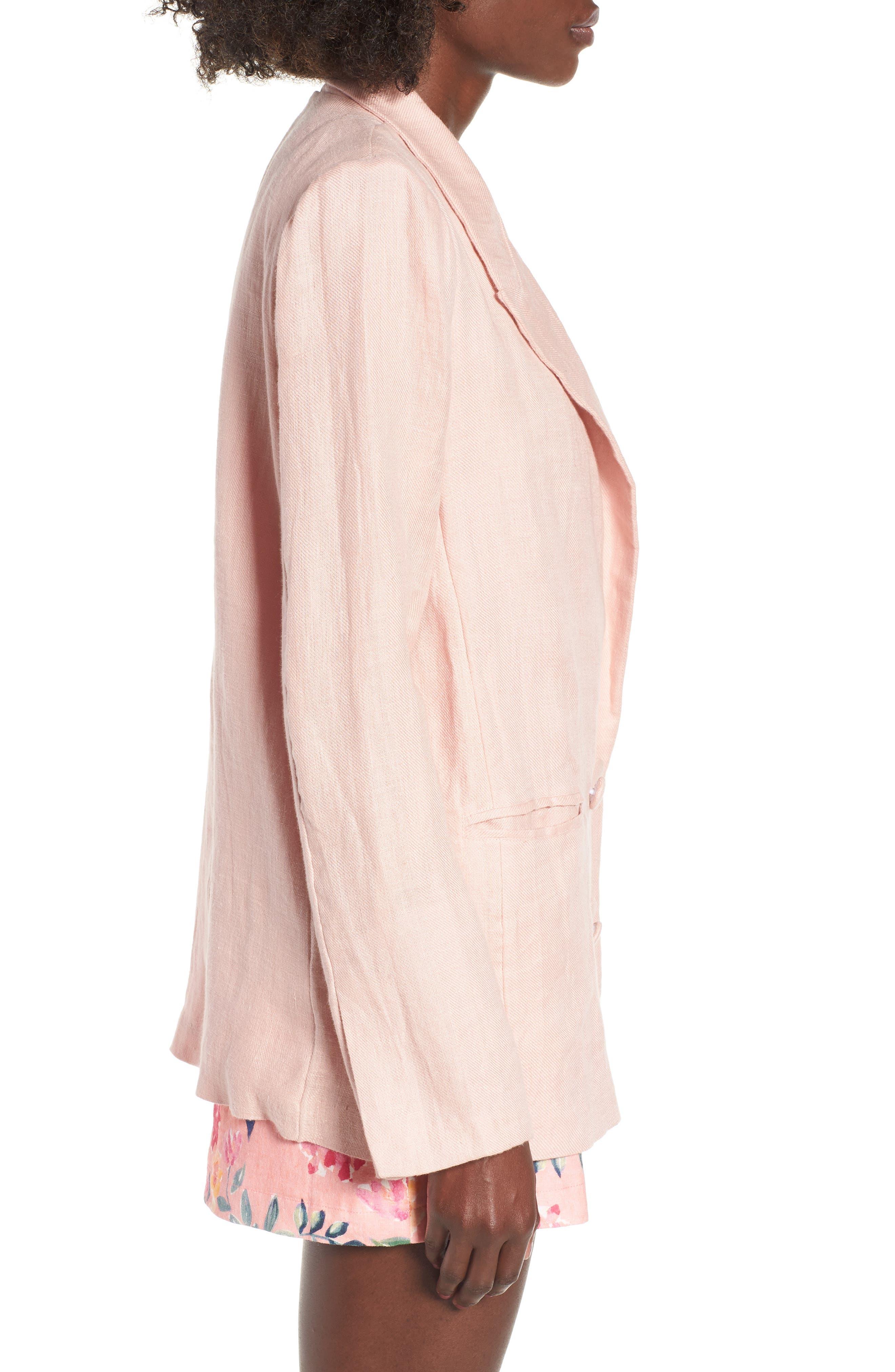 Fanning Stripe Blazer,                             Alternate thumbnail 3, color,                             Pink