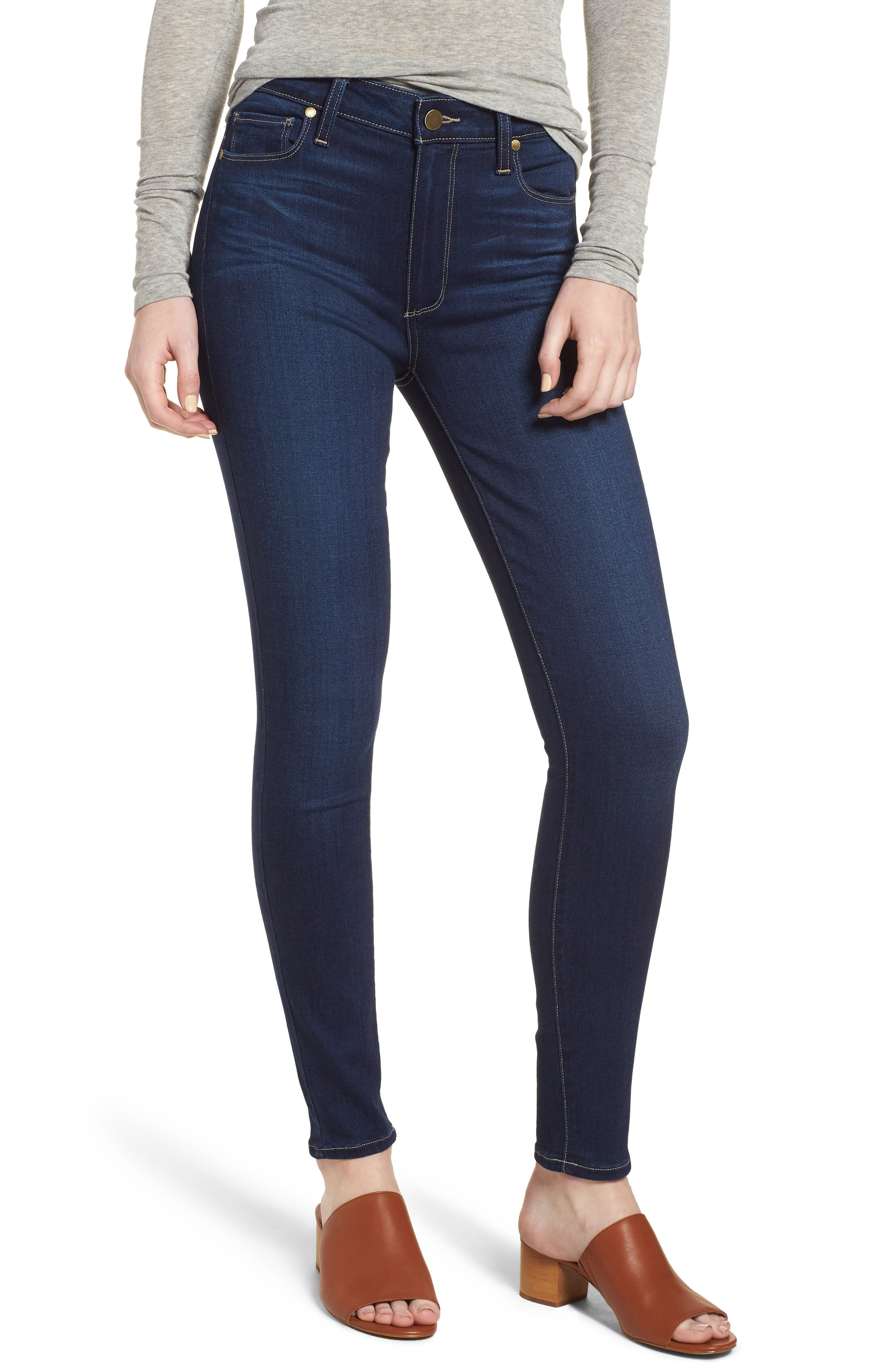 Hoxton High Waist Ankle Skinny Jeans,                         Main,                         color, Calani