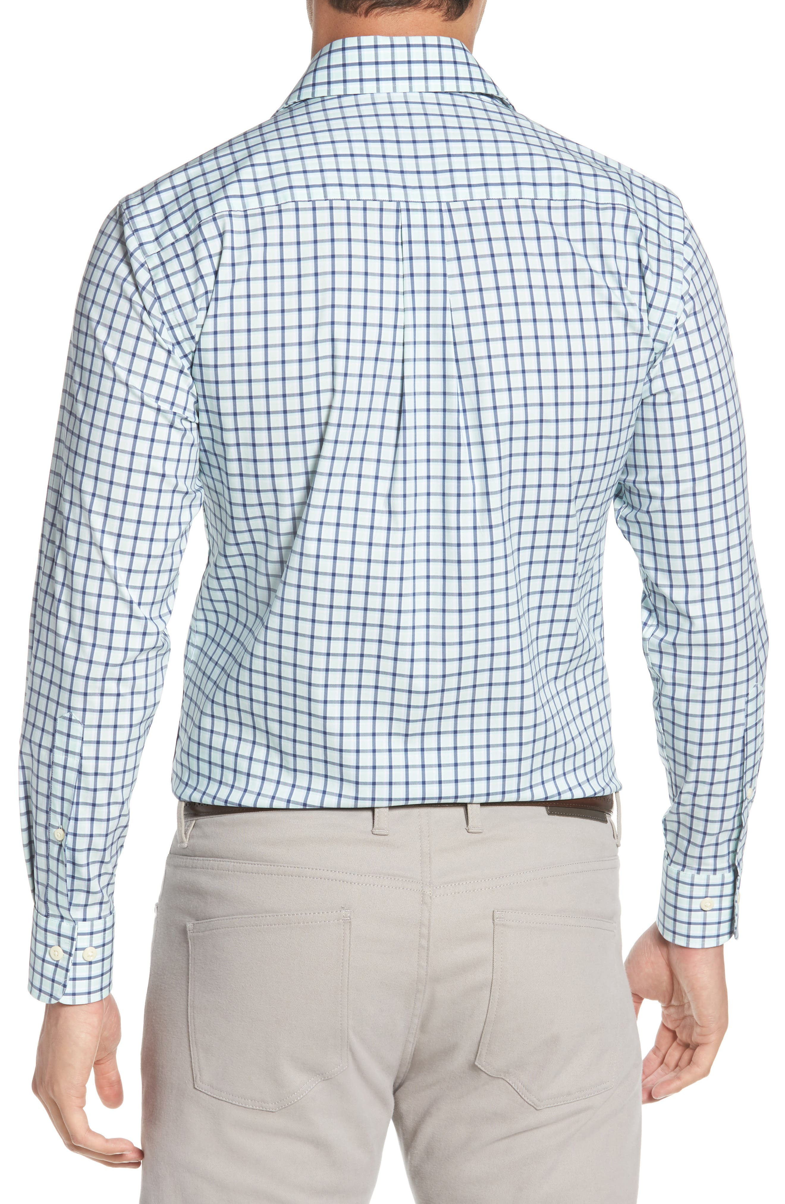 Crown Comfort Check Sport Shirt,                             Alternate thumbnail 3, color,                             Cays