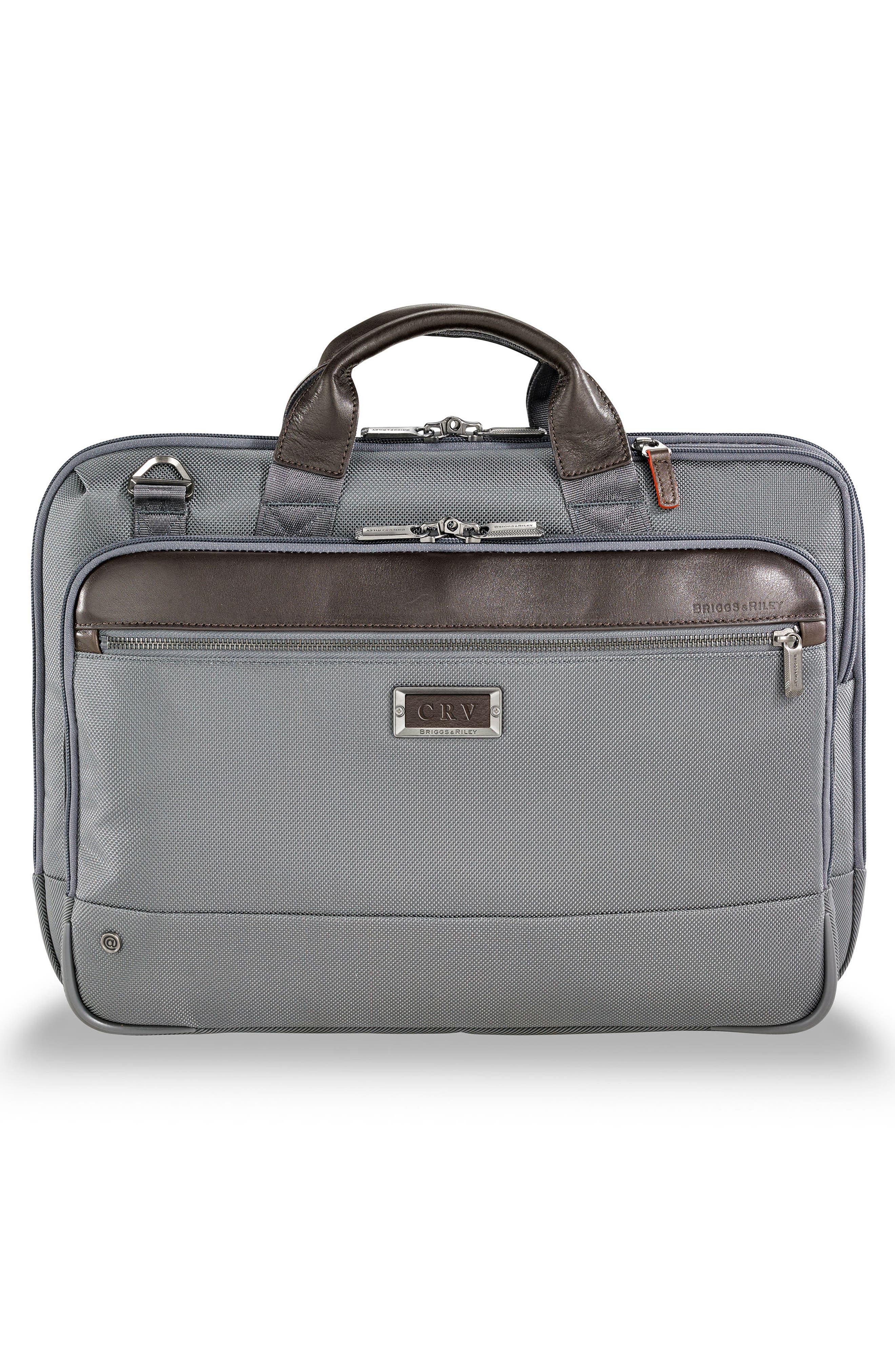 @work Slim Briefcase,                             Alternate thumbnail 2, color,                             Grey