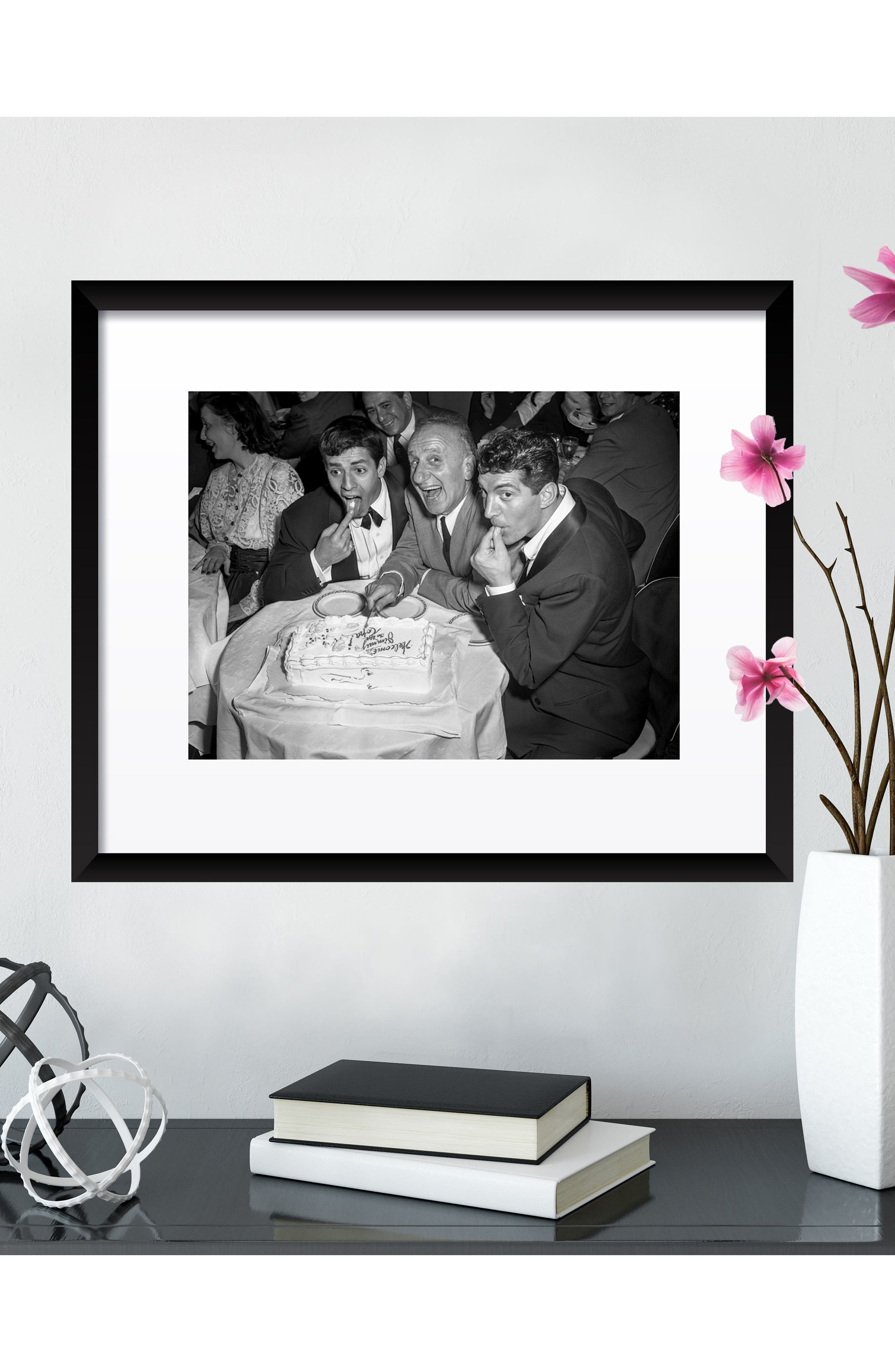 Jerry & Dean with Jimmy Durante Fine Art Print,                             Alternate thumbnail 3, color,                             Black