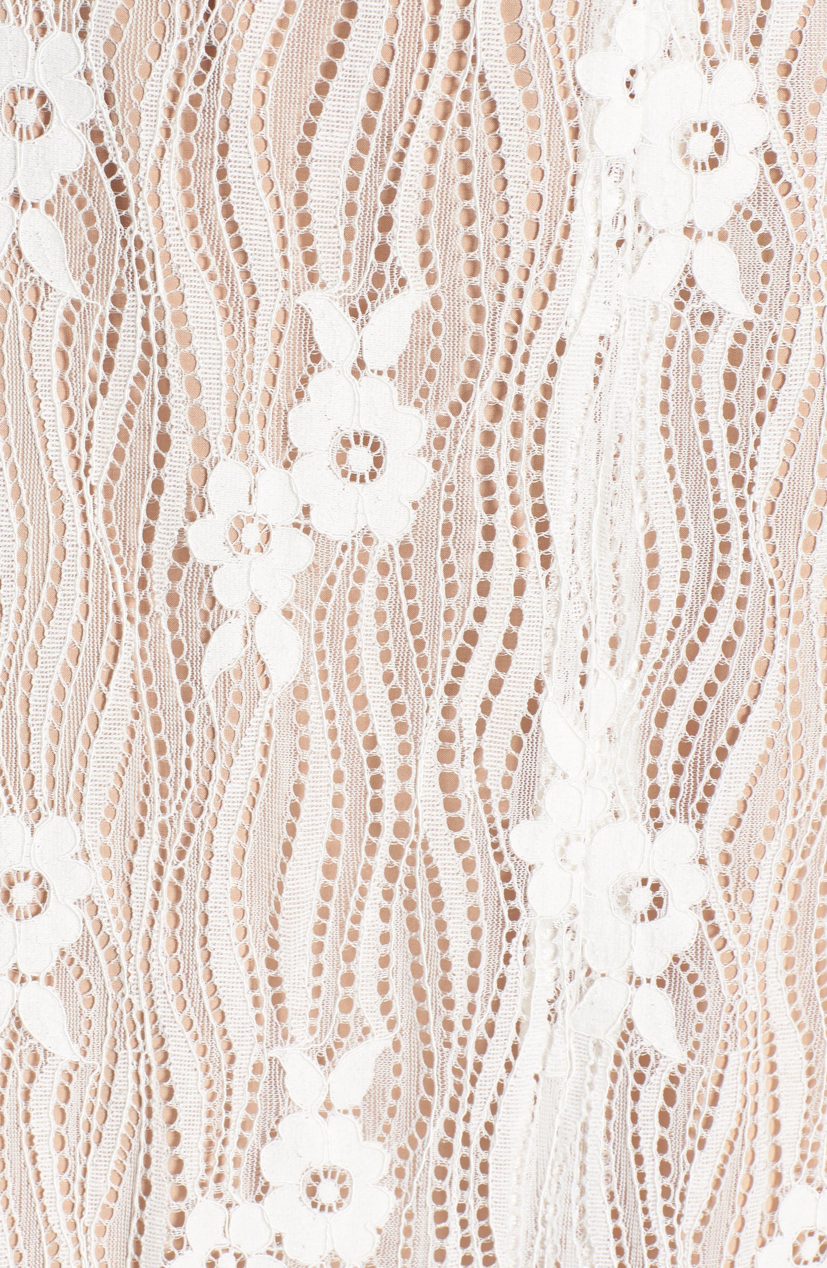 Blake Lace Maxi Dress,                             Alternate thumbnail 6, color,                             Ivory Lace