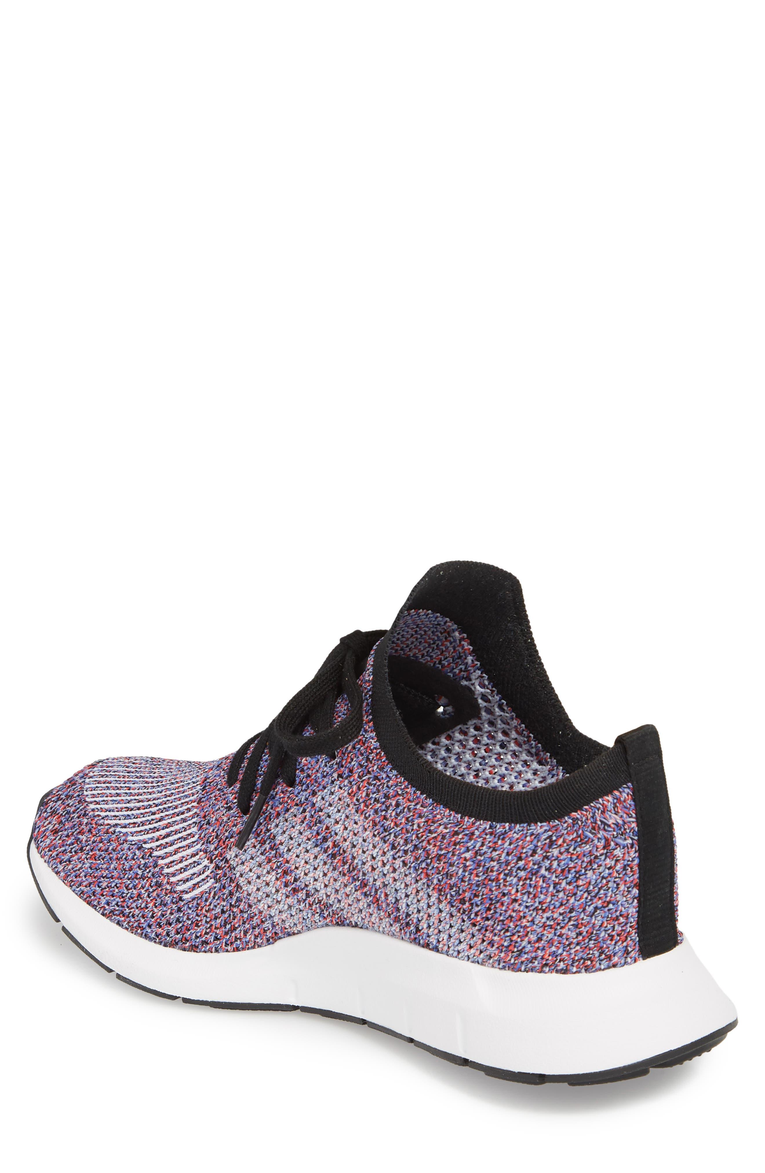 Swift Run Primeknit Sneaker,                             Alternate thumbnail 2, color,                             White/ Purple/ Black