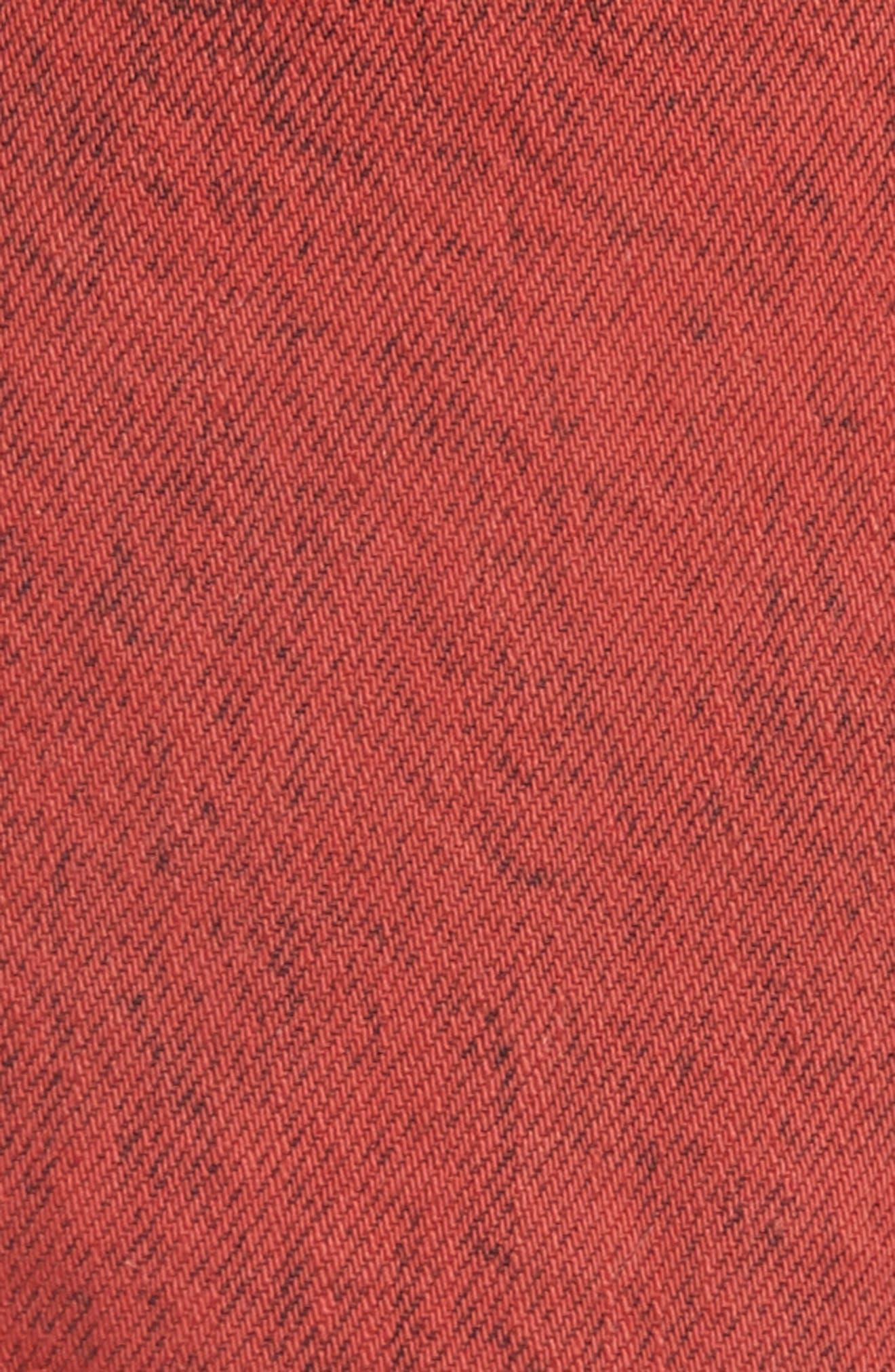 Sun Break Embellished Cutoff Shorts,                             Alternate thumbnail 5, color,                             Red