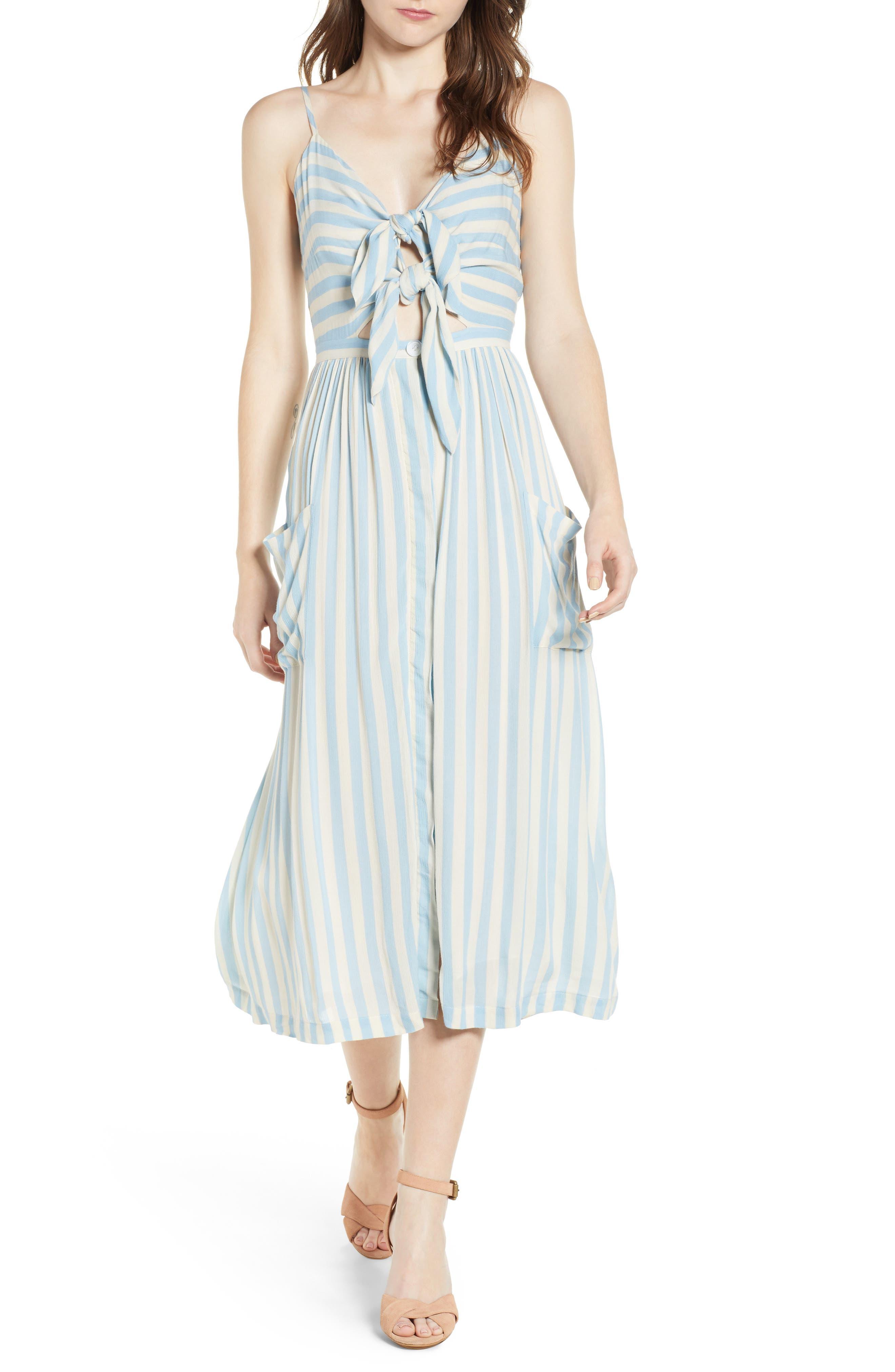 Derinda Dress,                             Main thumbnail 1, color,                             Blue Multi
