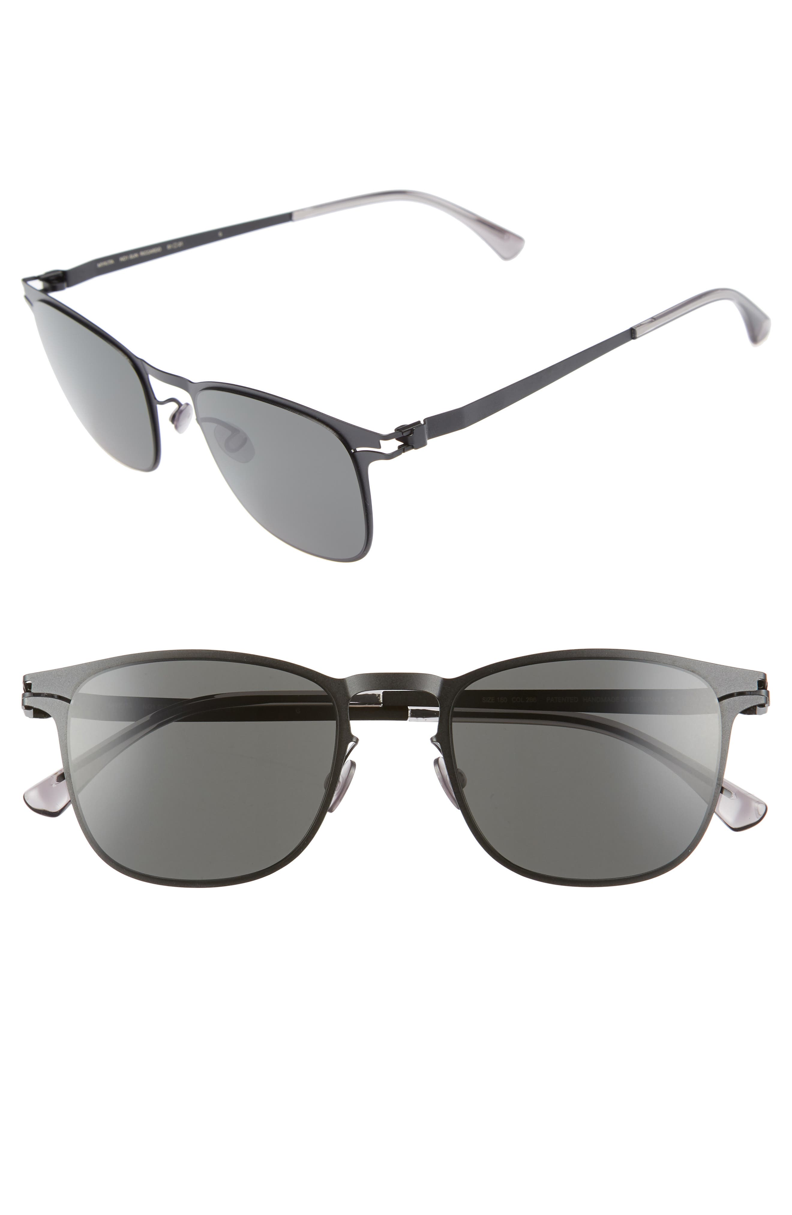 Riccardo 51mm Sunglasses,                             Main thumbnail 1, color,                             Matte Black