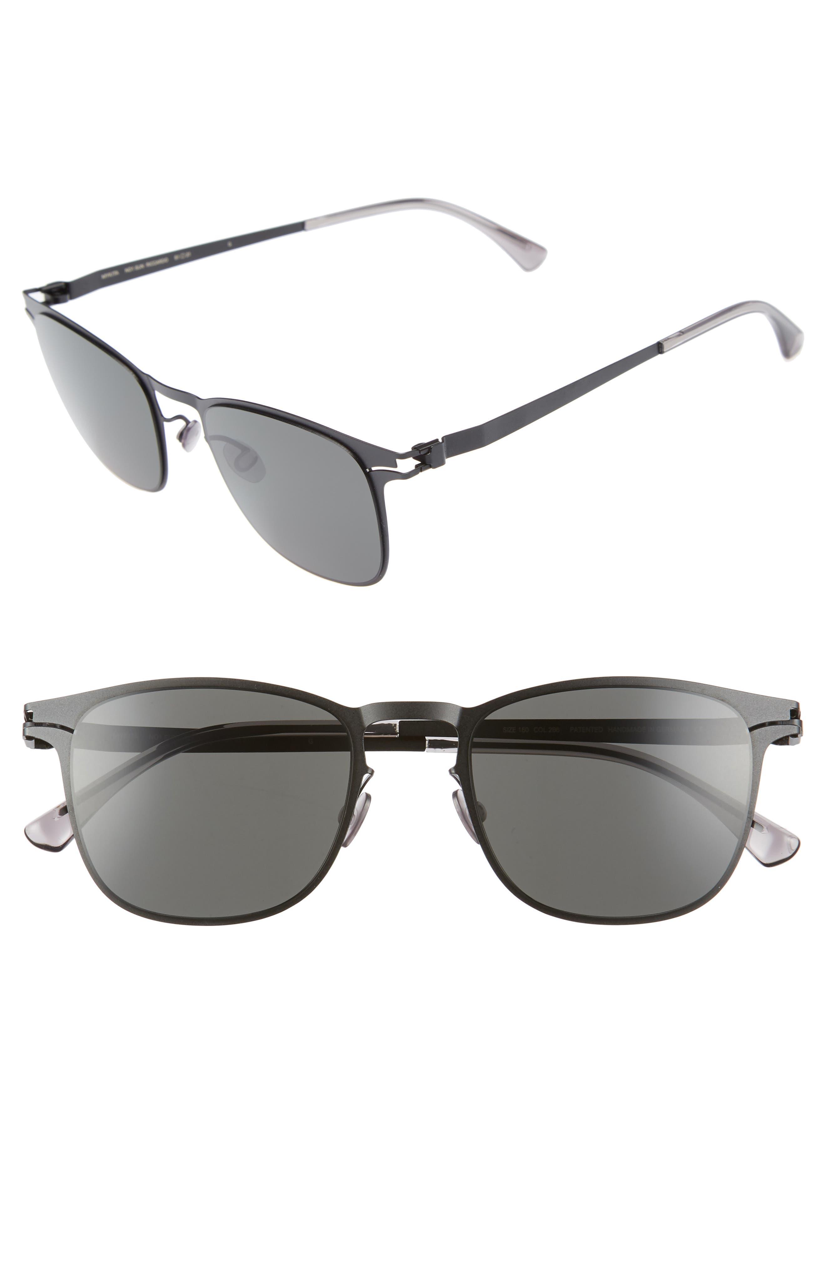 Riccardo 51mm Sunglasses,                         Main,                         color, Matte Black