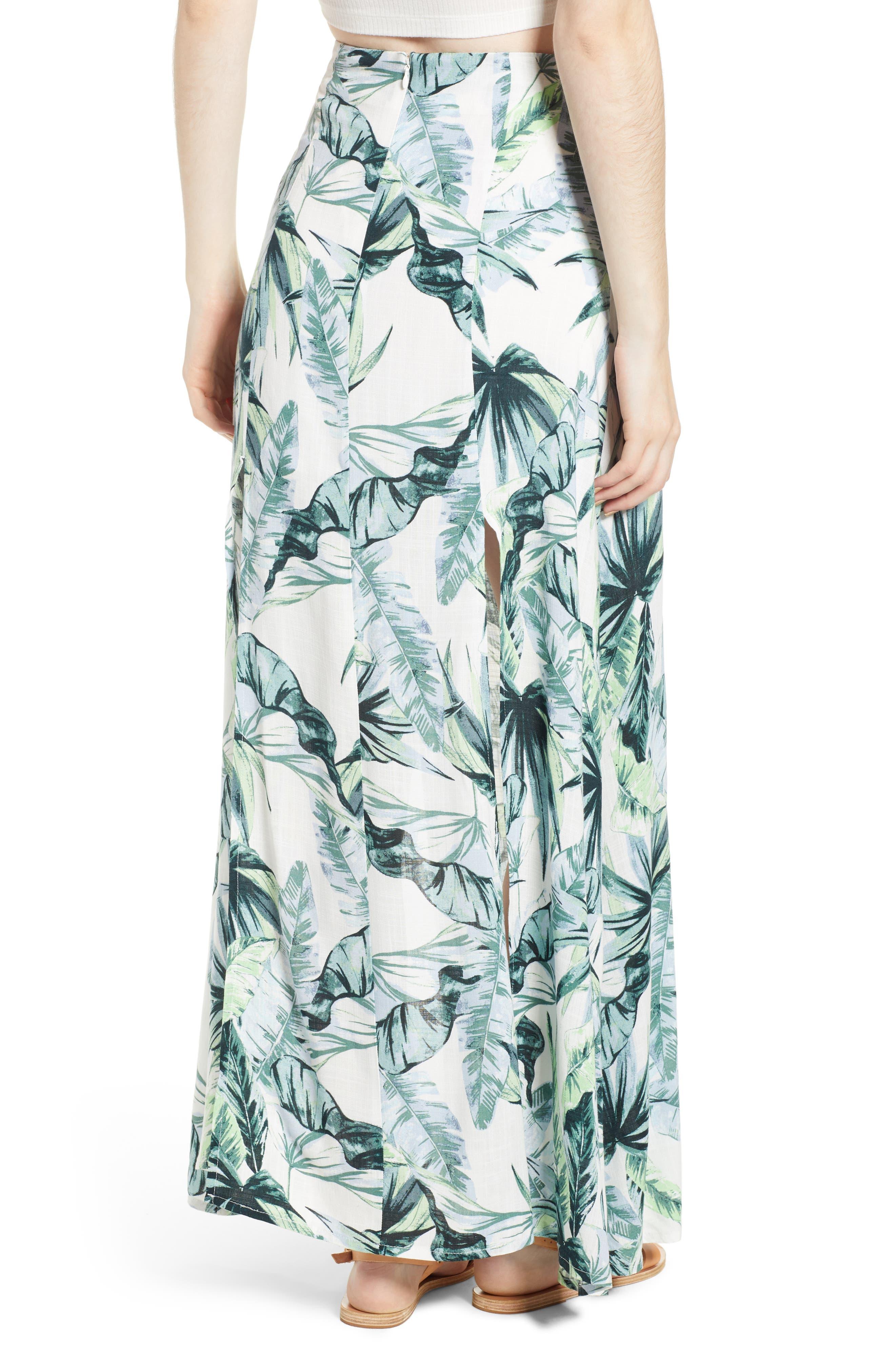 Palm Fringe Skirt,                             Alternate thumbnail 3, color,                             Multi