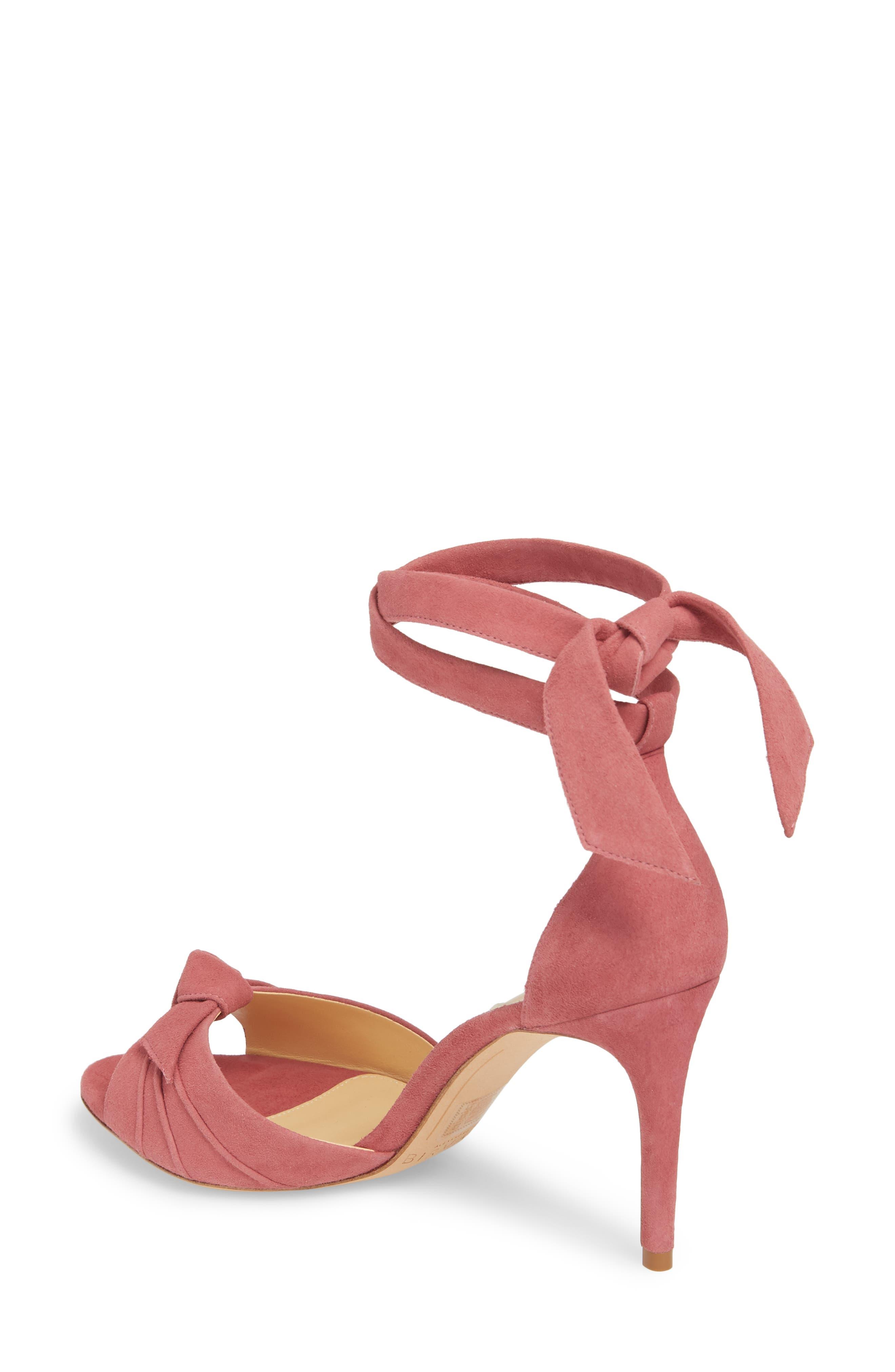 Clarita Ankle Tie Sandal,                             Alternate thumbnail 2, color,                             Dusty Rose