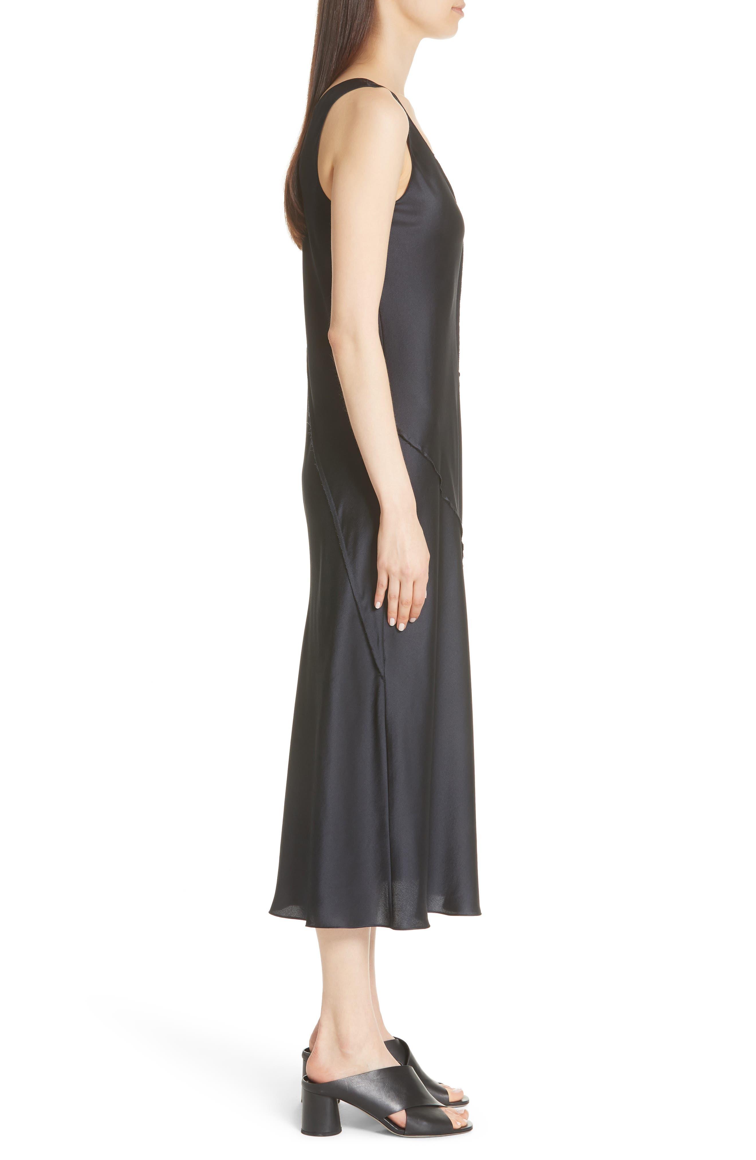 Silk Tank Dress,                             Alternate thumbnail 5, color,                             Iron