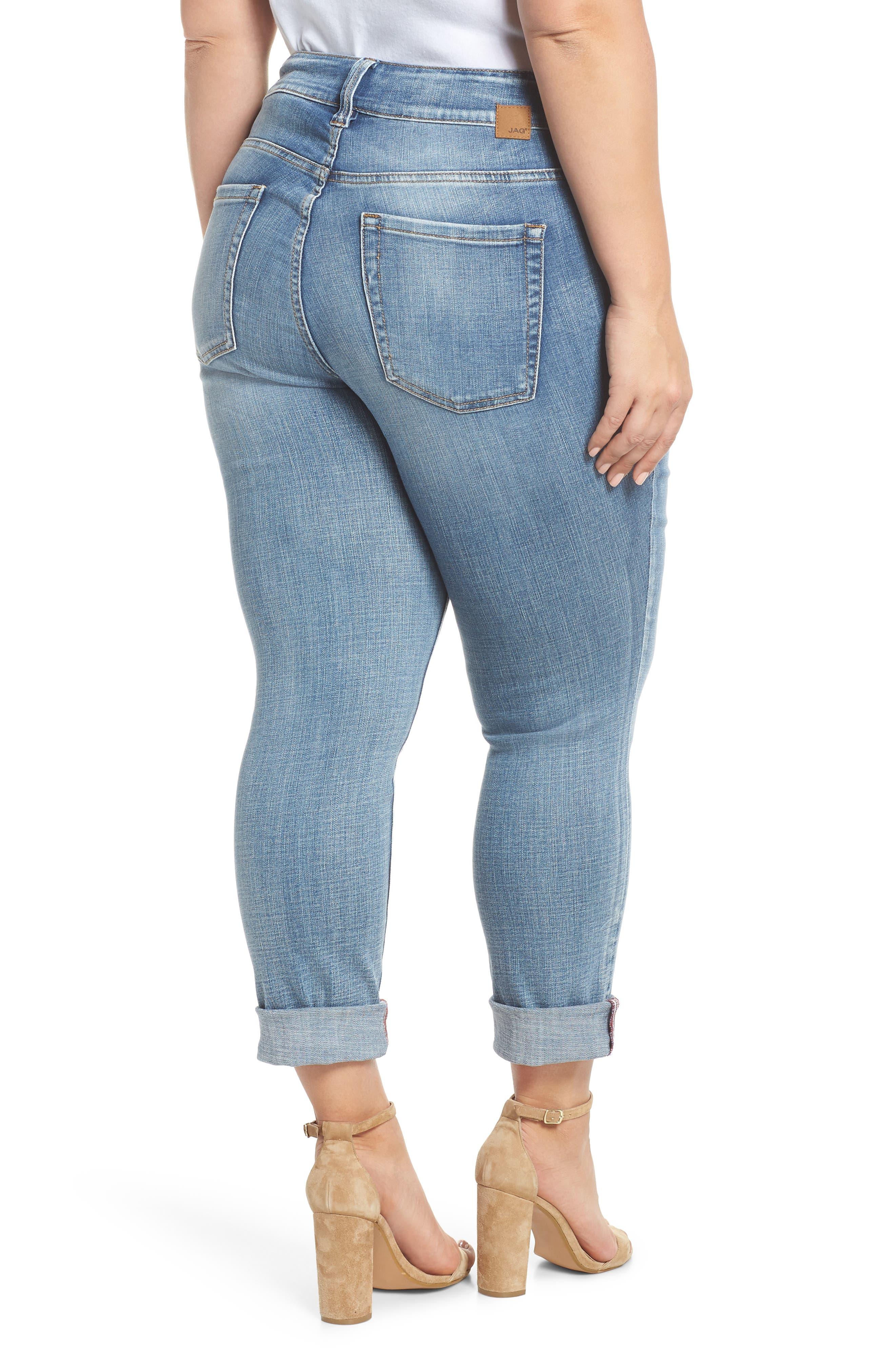 Alternate Image 2  - Jag Jeans Carter Girlfriend Jeans (Plus Size)