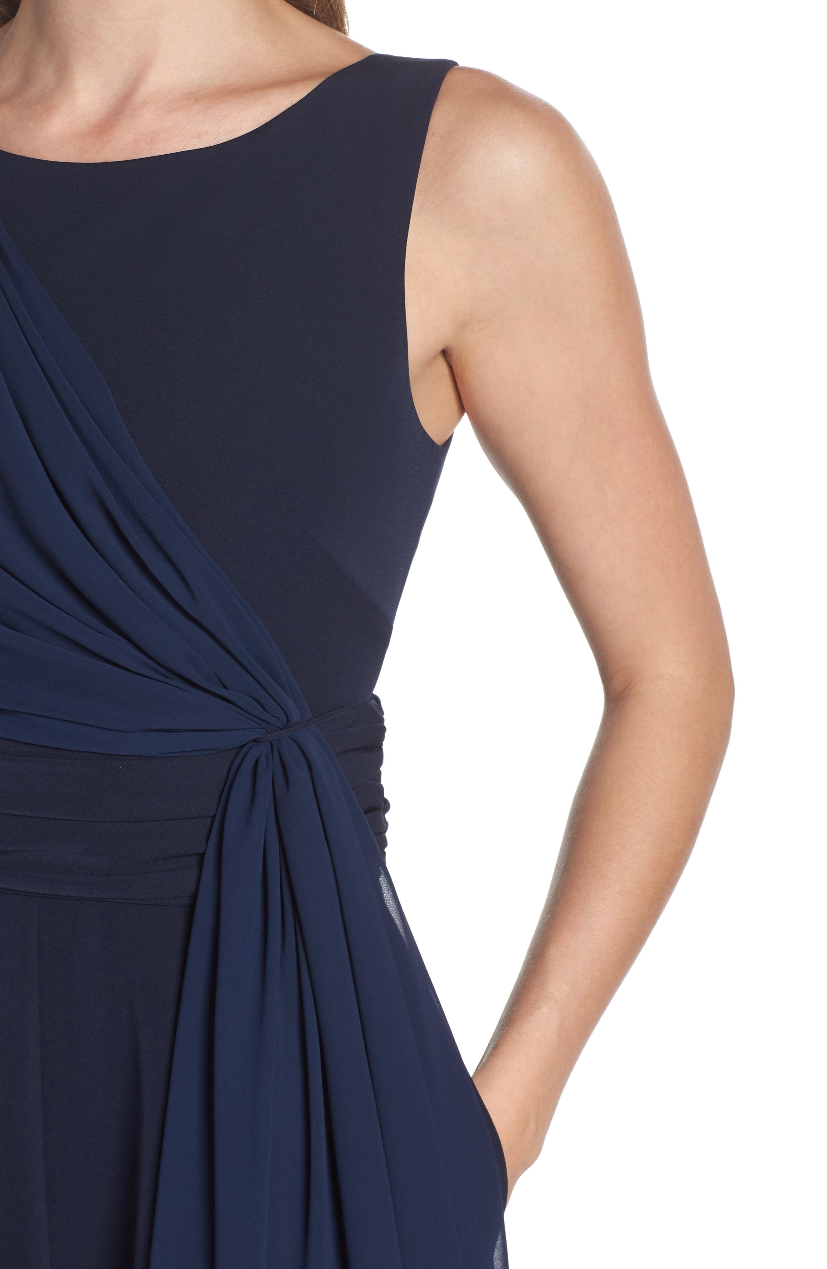 Cascading Tie Jumpsuit,                             Alternate thumbnail 4, color,                             Navy