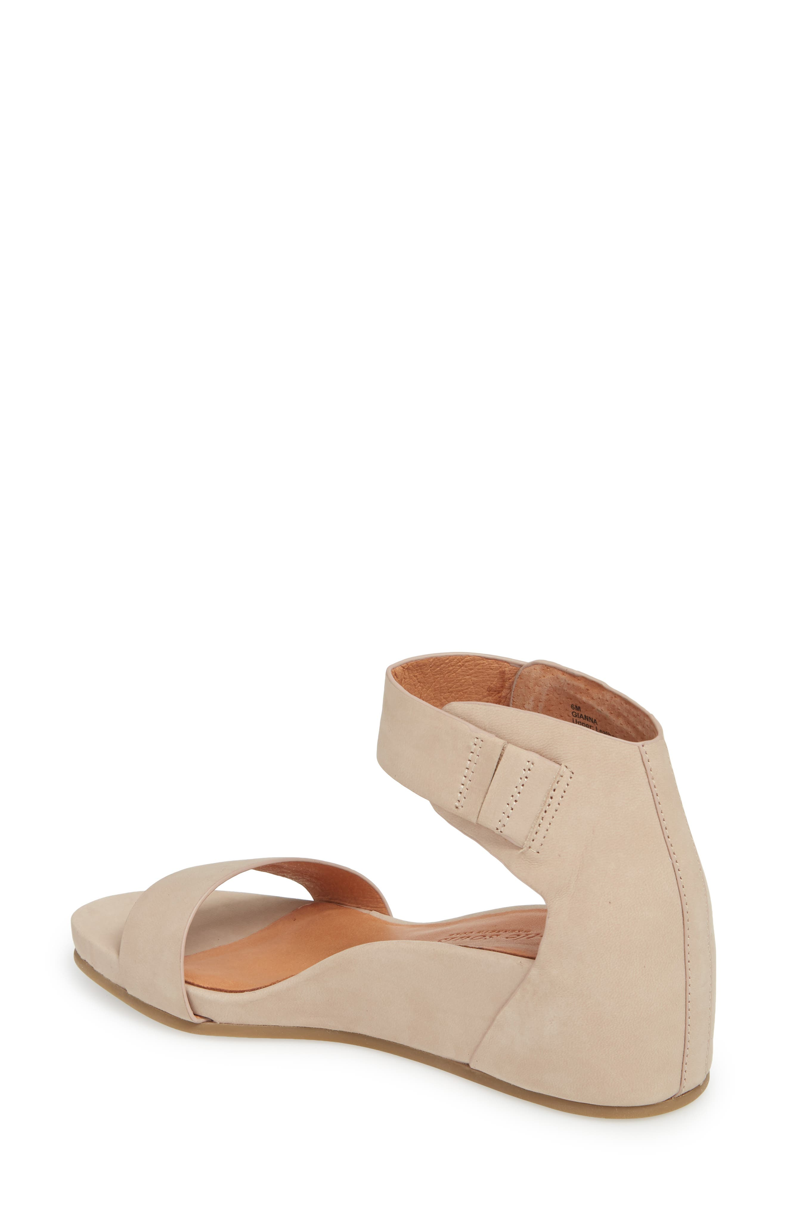 by Kenneth Cole Gianna Wedge Sandal,                             Alternate thumbnail 2, color,                             Mushroom Nubuck