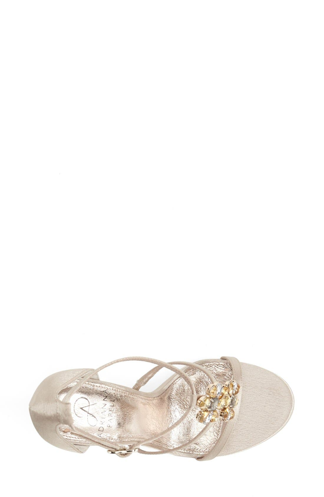 Alternate Image 3  - Adrianna Papell 'Daphne' Jeweled Strappy Sandal (Women)