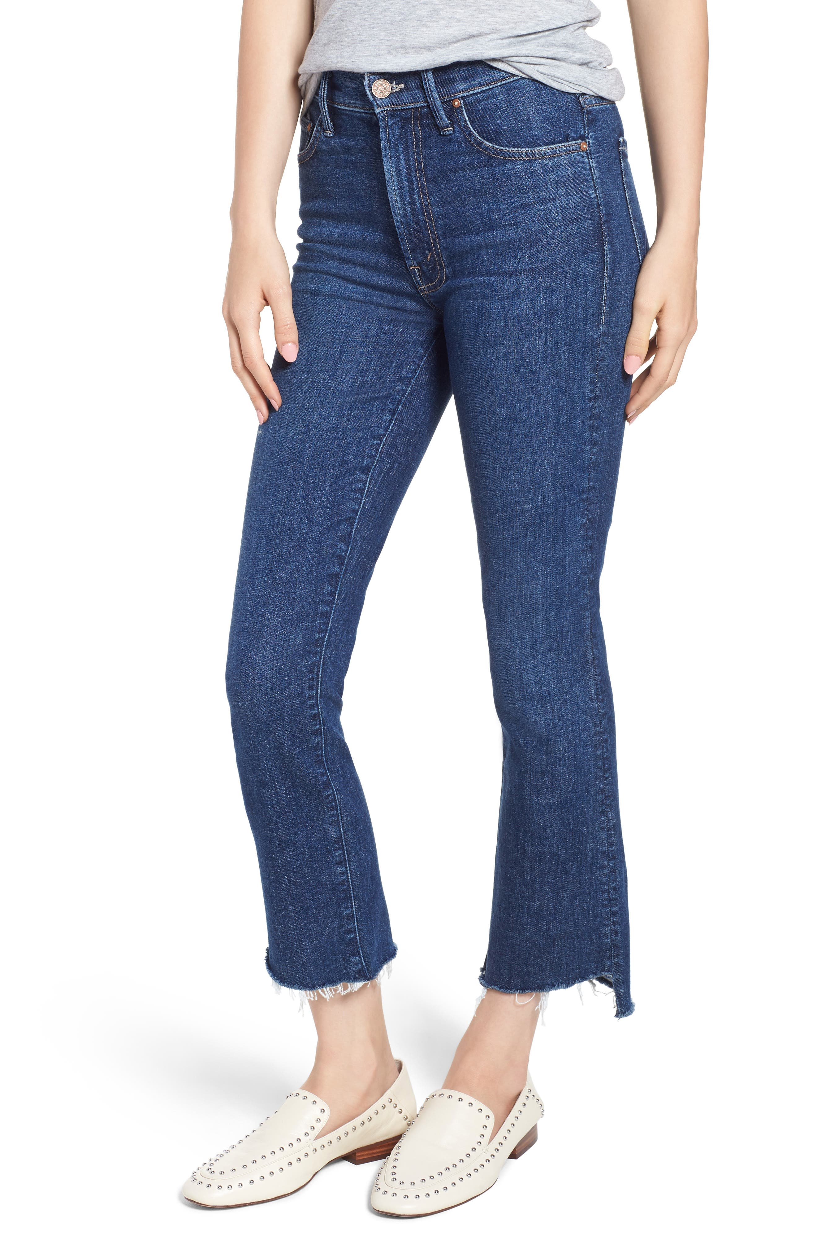 'The Insider' Crop Step Fray Jeans,                         Main,                         color, Crushing It