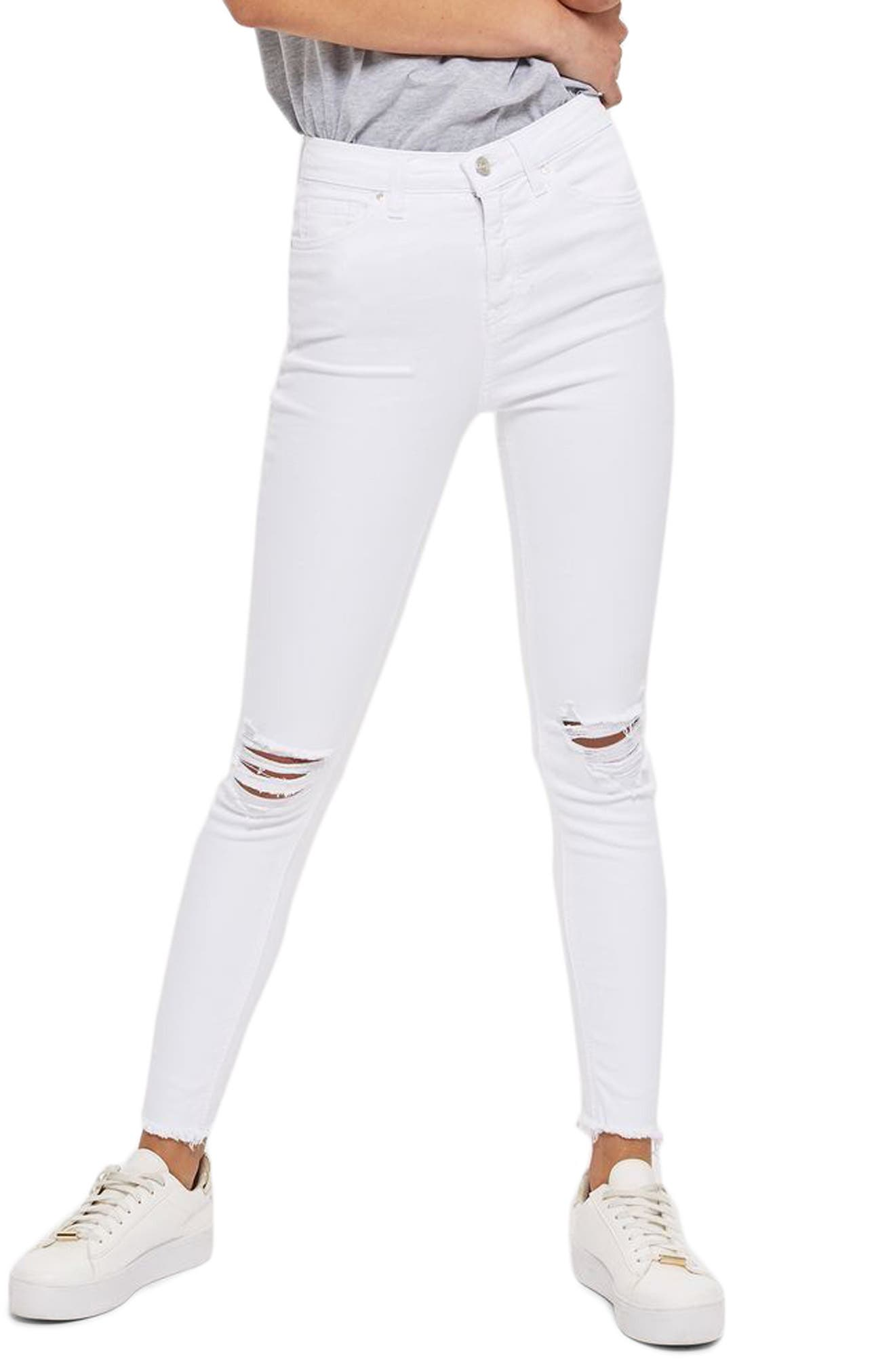 Alternate Image 1 Selected - Topshop Jamie Ripped Jeans