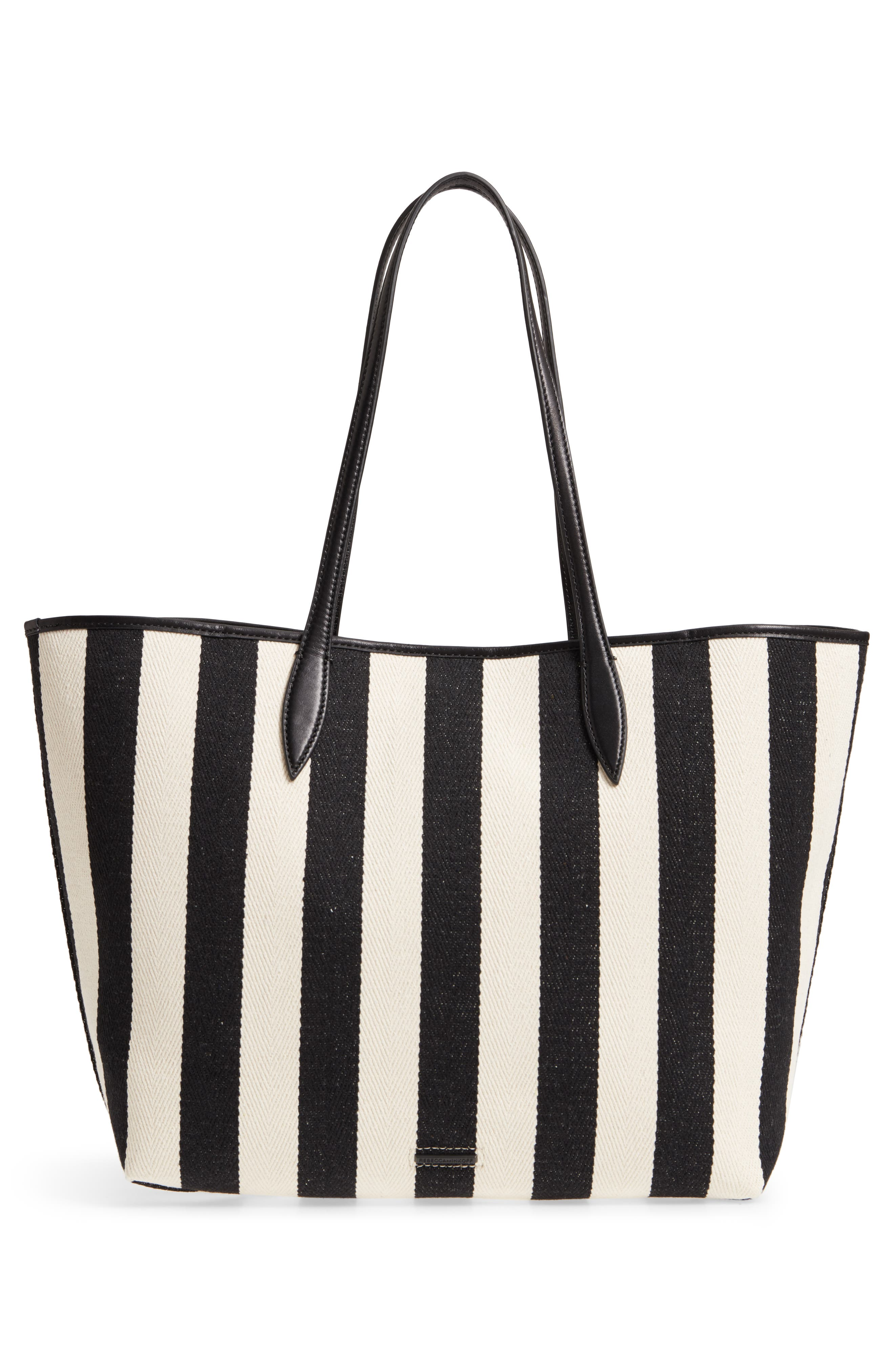 Large Heather Love is Love Canvas Tote,                             Alternate thumbnail 3, color,                             Black/ White