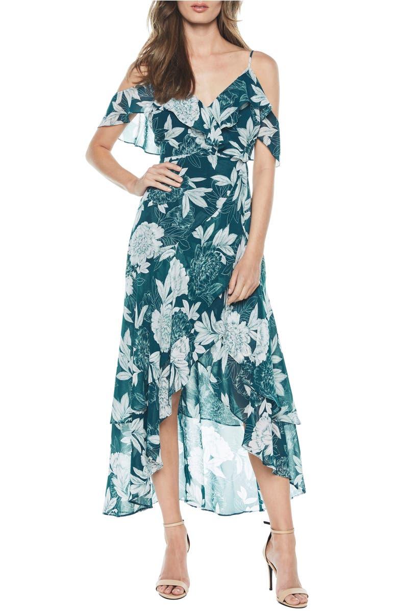 Bardot Garden Party Floral Cold Shoulder Maxi Dress | Nordstrom
