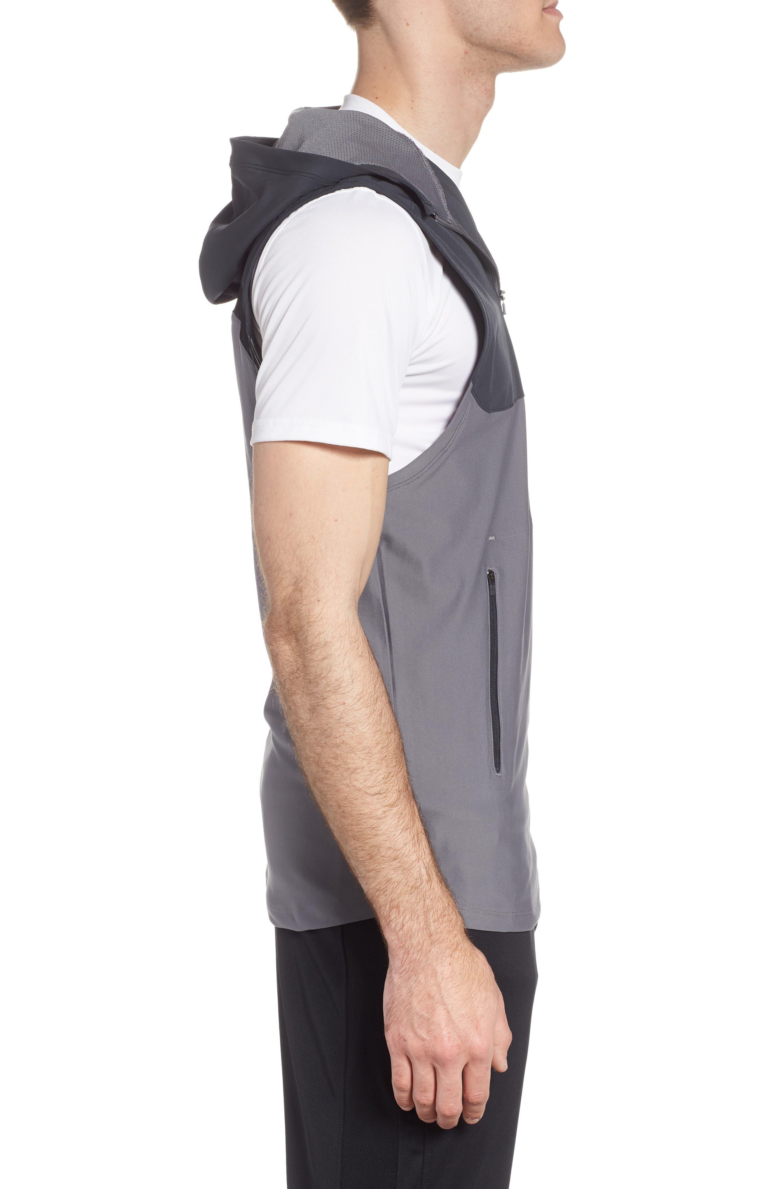 Threadborne Vanish Vest,                             Alternate thumbnail 3, color,                             Anthracite / Graphite/ Iron