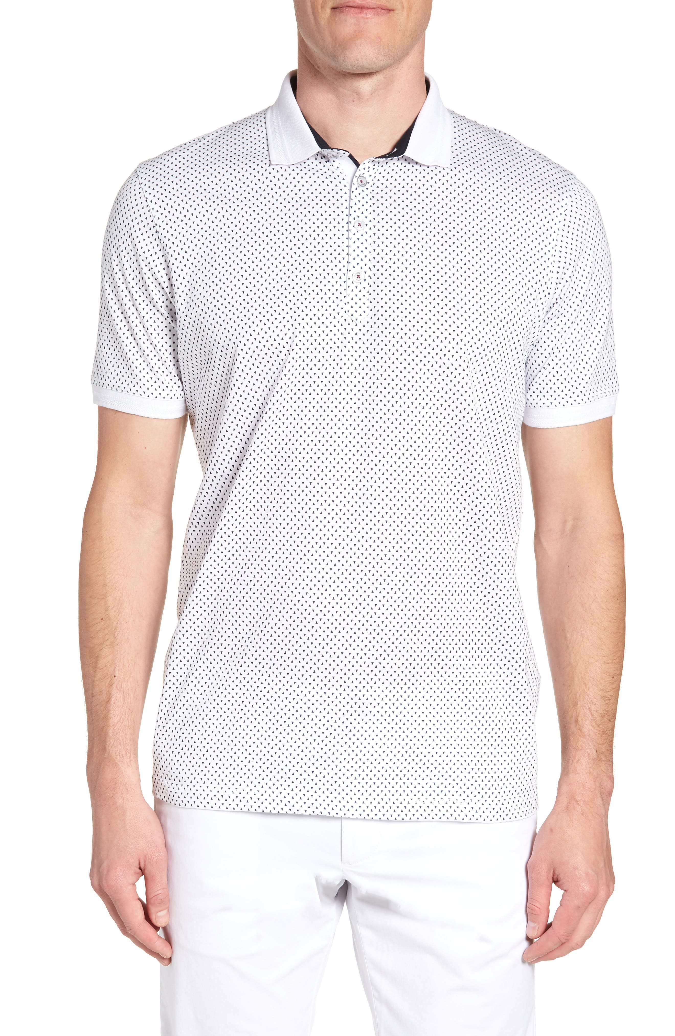 Ted Baker London Trim Fit Geo Polo