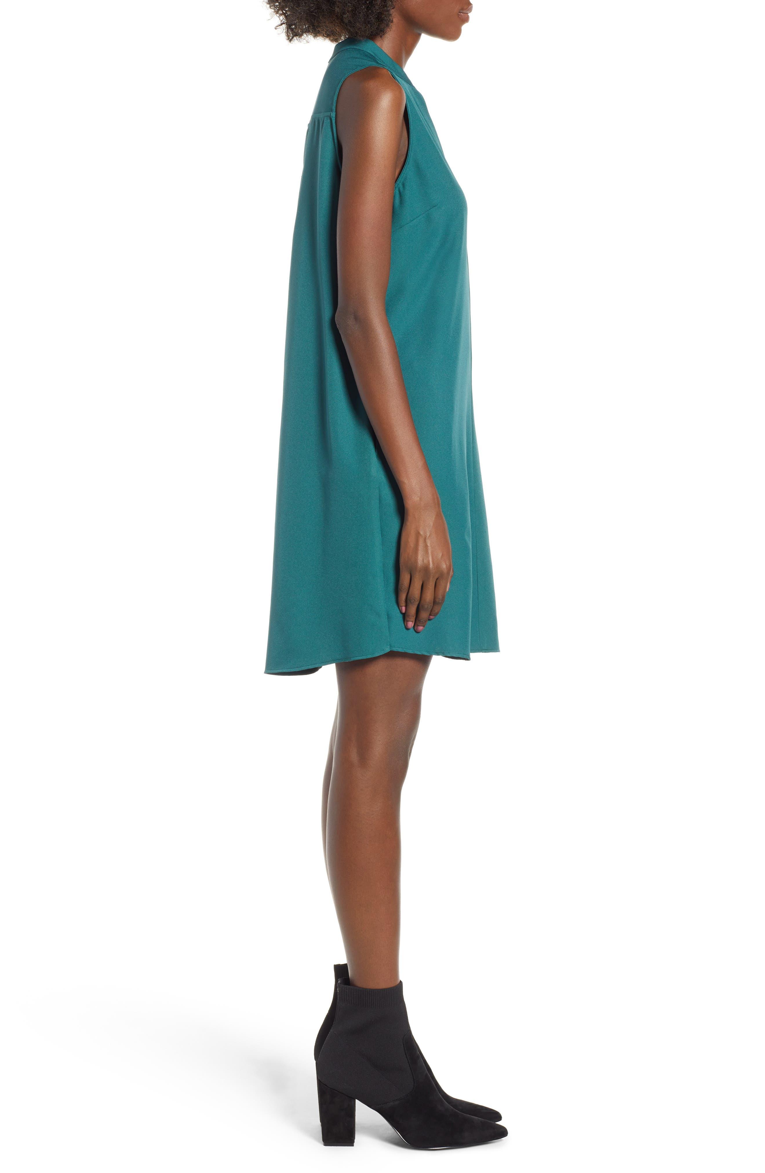 Taylor Shift Dress,                             Alternate thumbnail 3, color,                             Green Bug