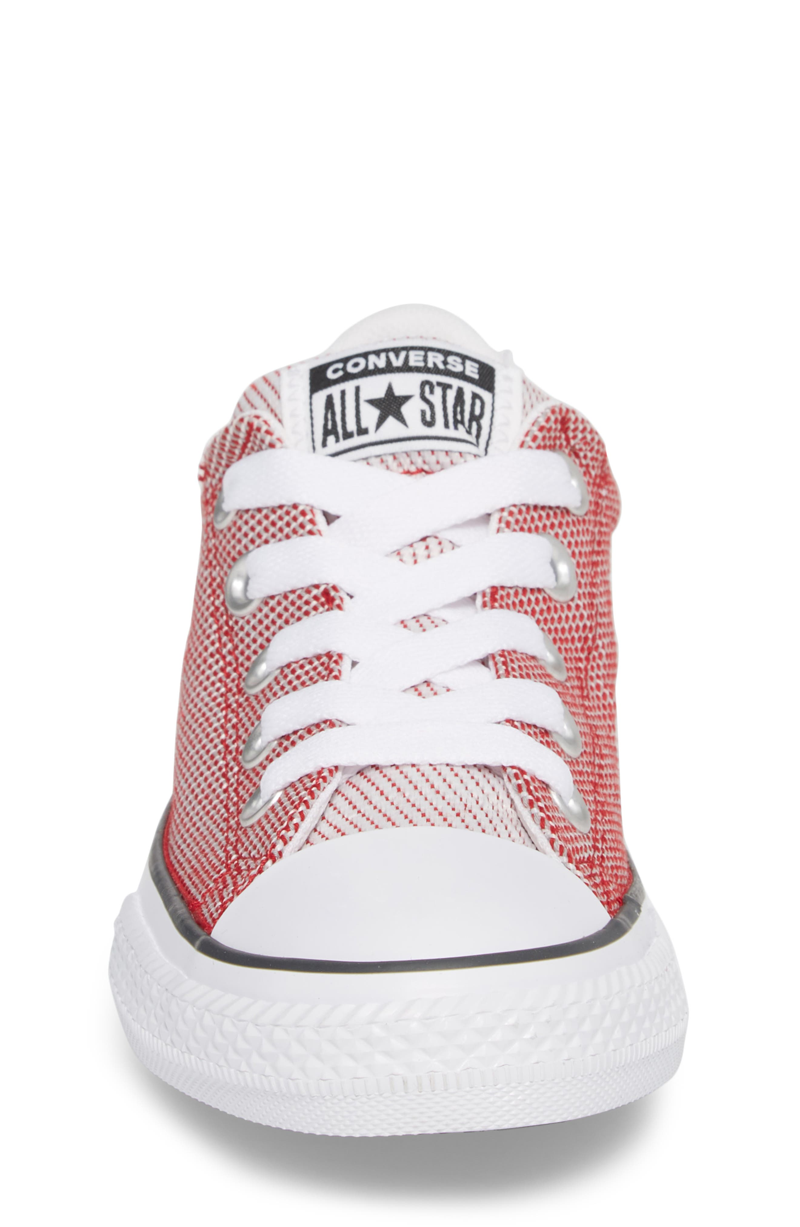 Chuck Taylor<sup>®</sup> All Star<sup>®</sup> Woven Street Sneaker,                             Alternate thumbnail 4, color,                             Gym Red