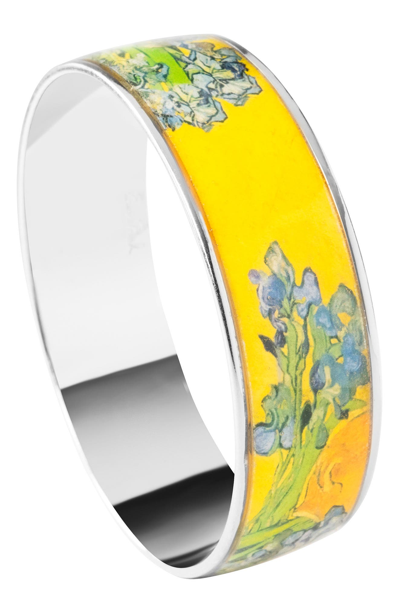 Irises Medium Bangle Bracelet,                             Alternate thumbnail 2, color,                             Yellow/ Silver