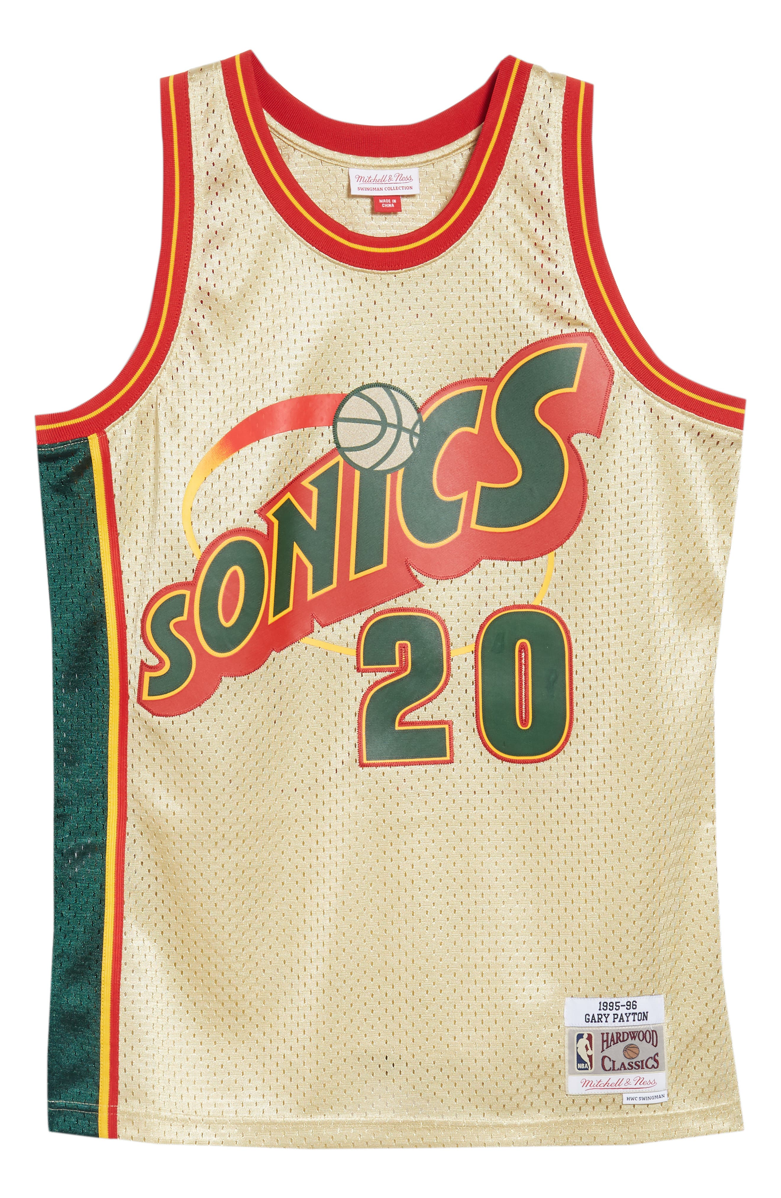 NBA Gold Payton Jersey,                             Alternate thumbnail 6, color,                             Gold