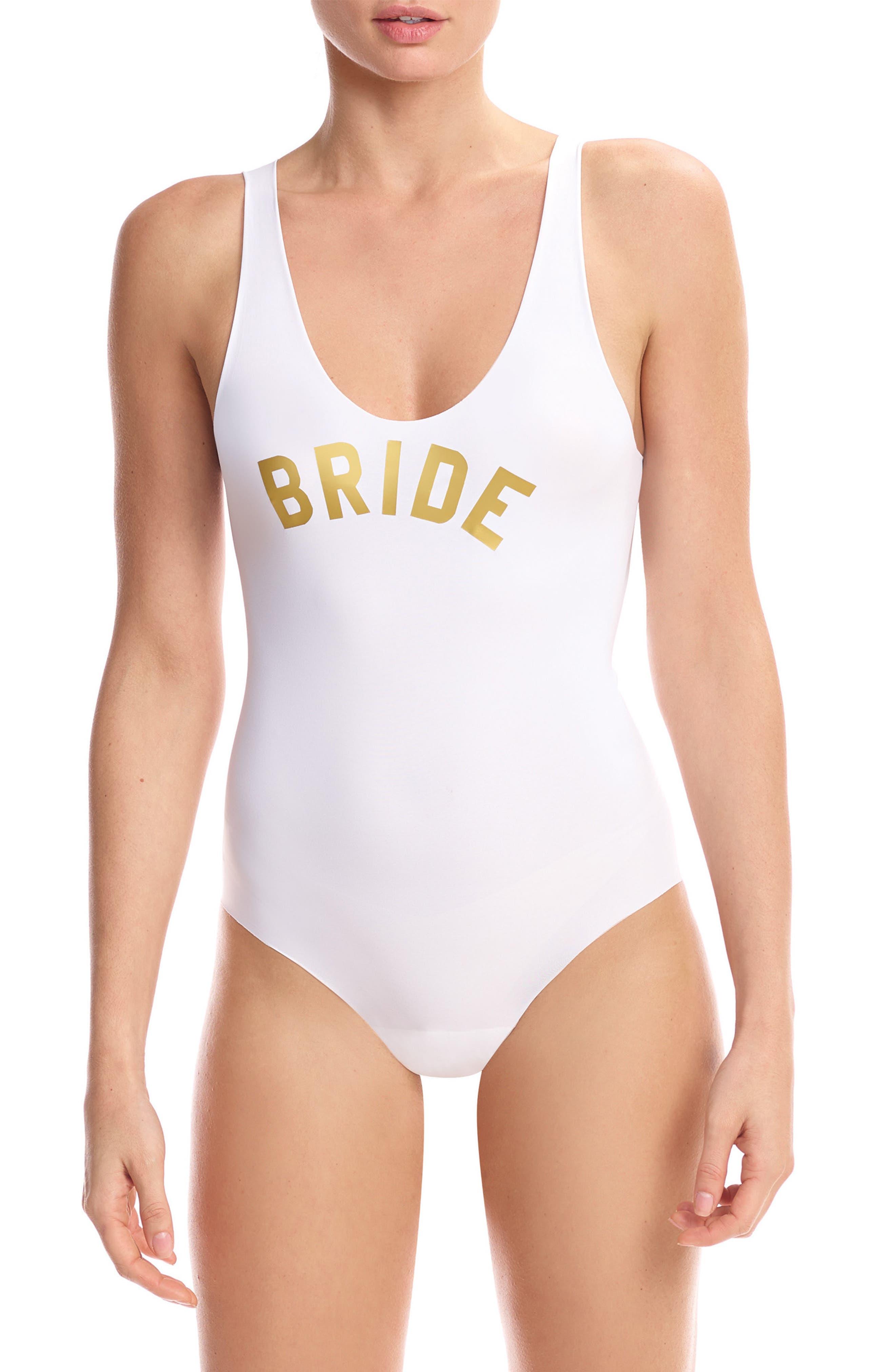 Graphic Bodysuit,                             Main thumbnail 1, color,                             Bride