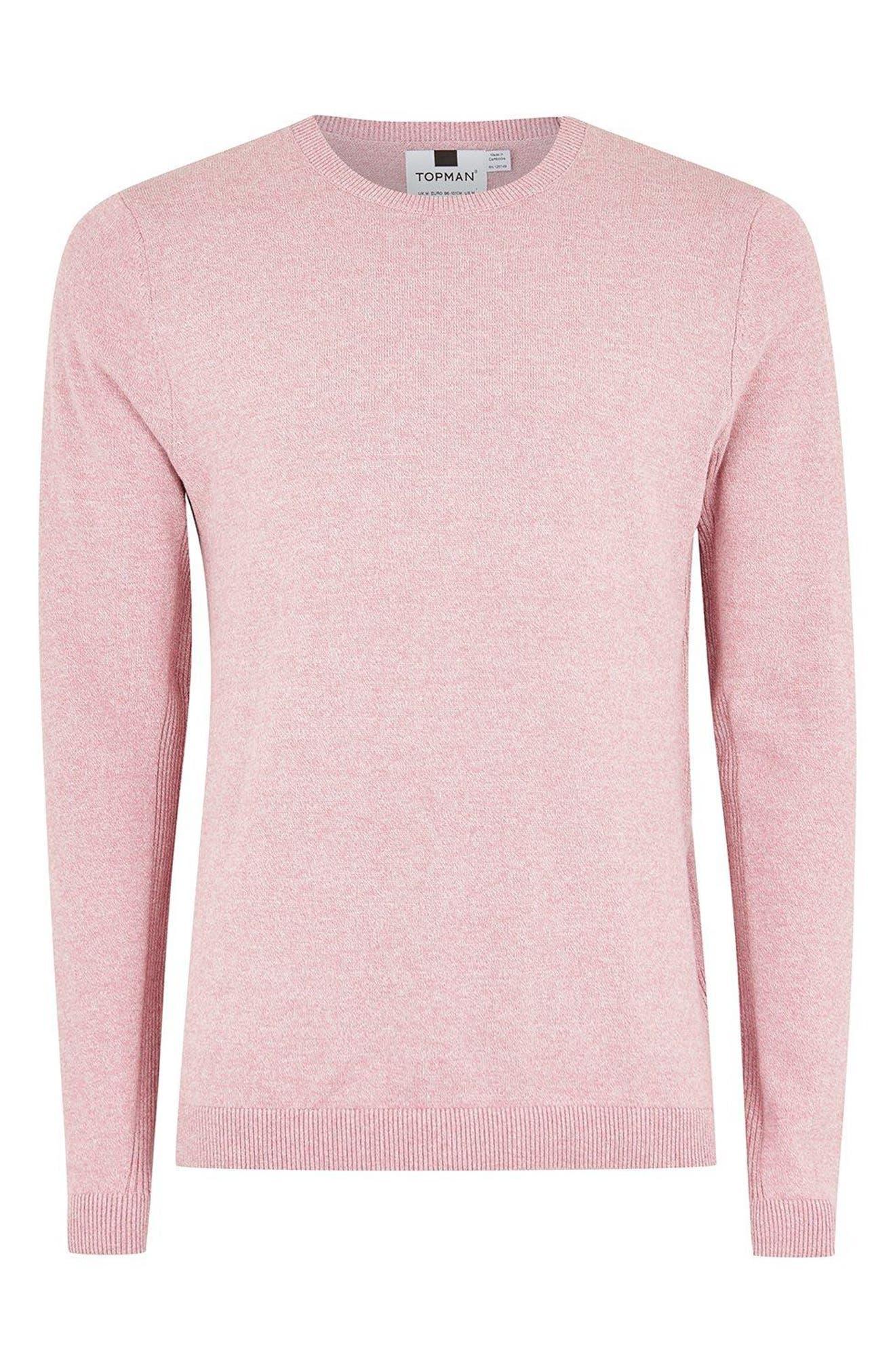Side Rib Cotton Sweater,                             Alternate thumbnail 5, color,                             Purple