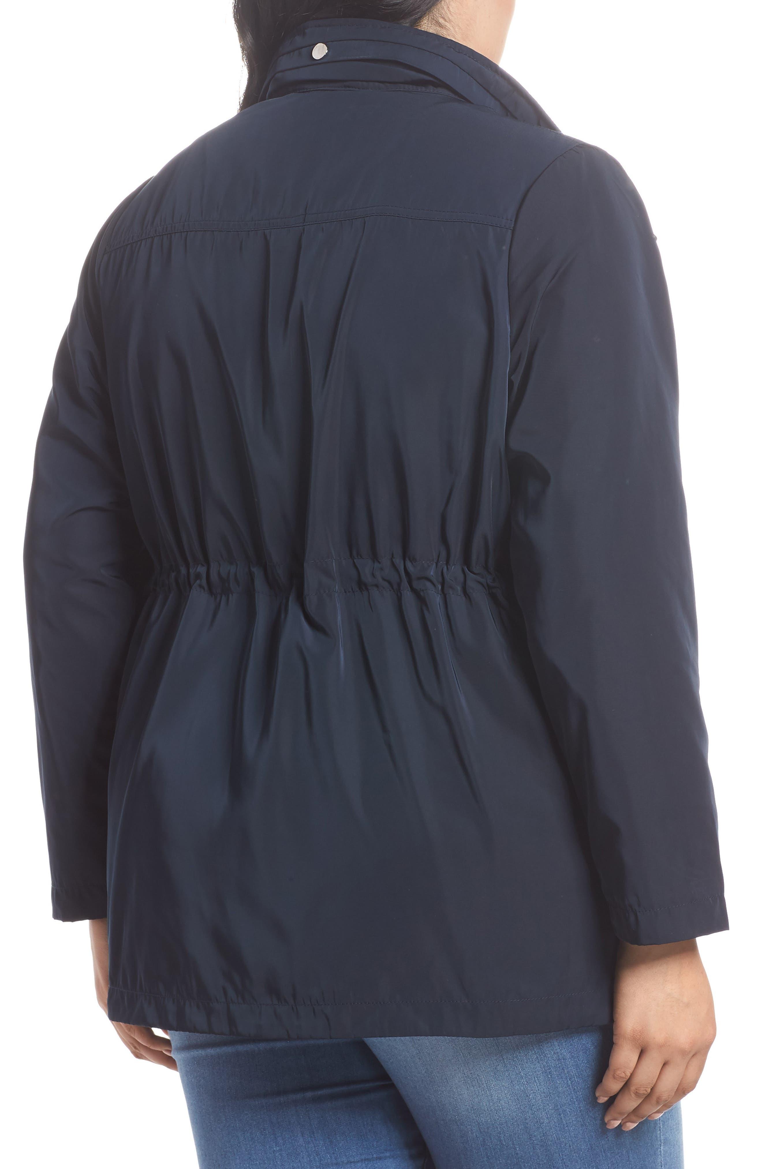 Zip Trim Jacket,                             Alternate thumbnail 6, color,                             Navy Blue