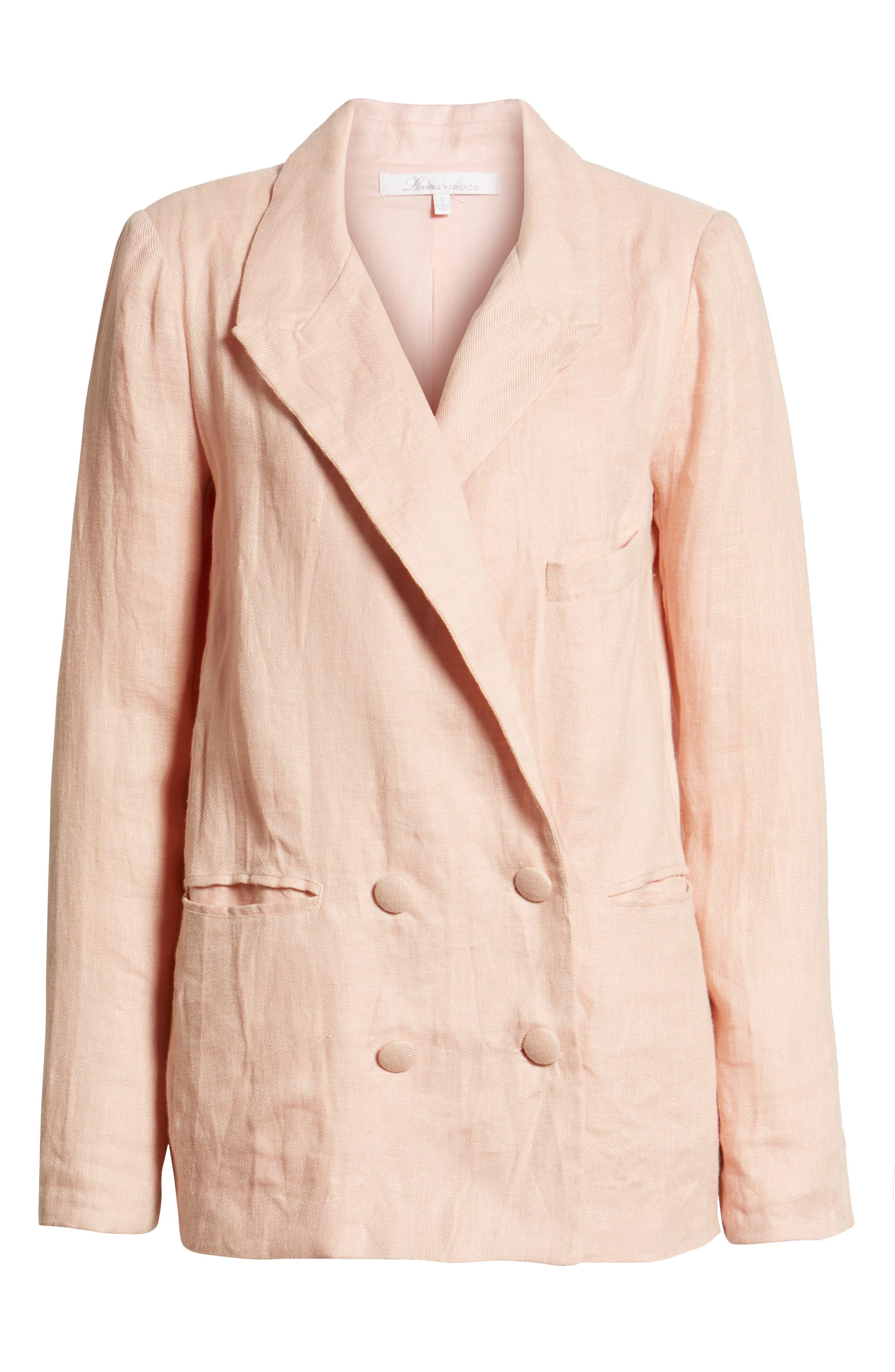Fanning Stripe Blazer,                         Main,                         color, Pink