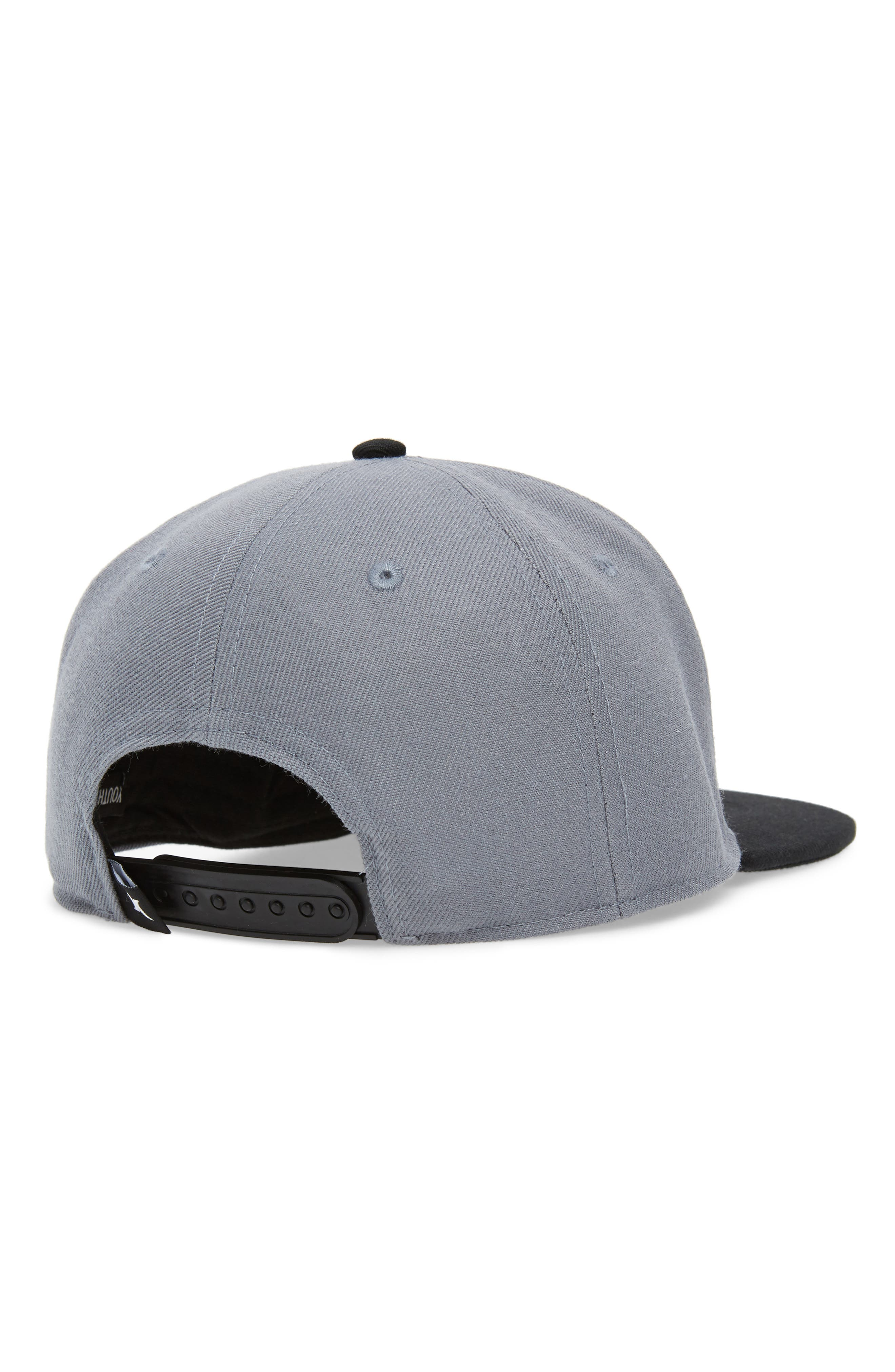 Logo Snapback Cap,                             Alternate thumbnail 2, color,                             Cool Gray/ Black