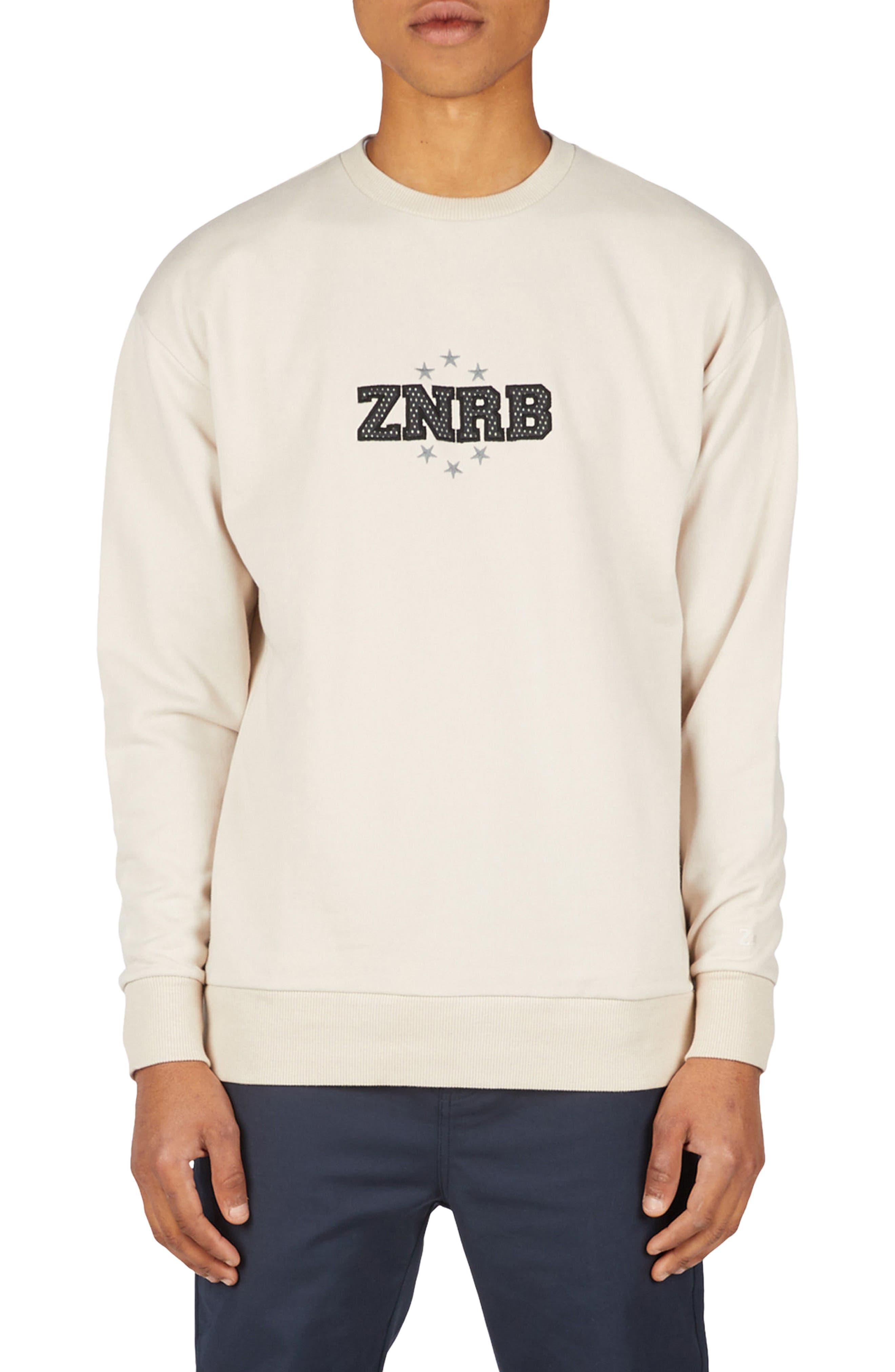 Sponsor Rugger Sweatshirt,                         Main,                         color, Natural