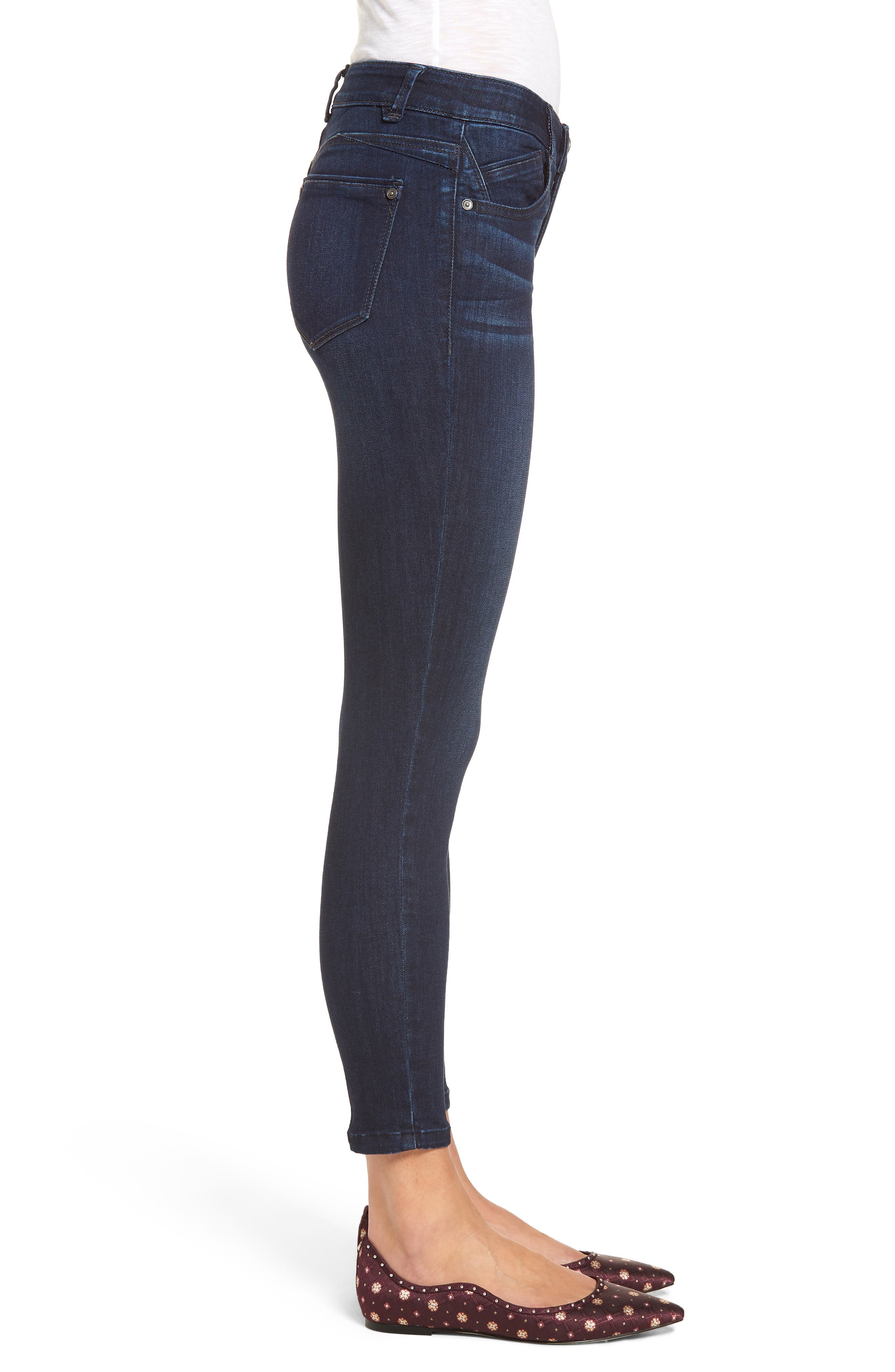 Ab-solution Skinny Jeans,                             Alternate thumbnail 3, color,                             In- Indigo