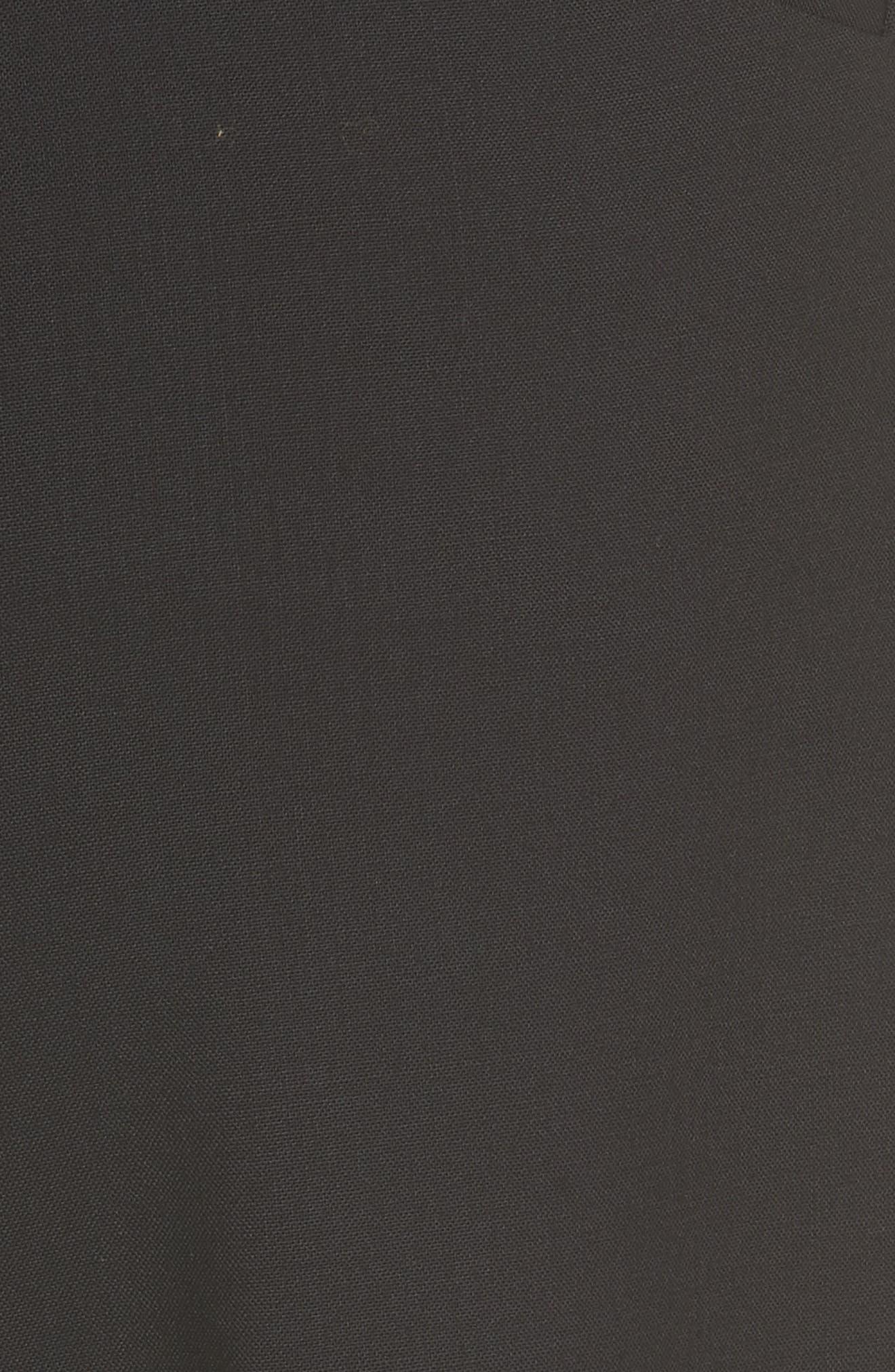Demitria 2 Stretch Wool Suit Pants,                             Alternate thumbnail 5, color,                             Black