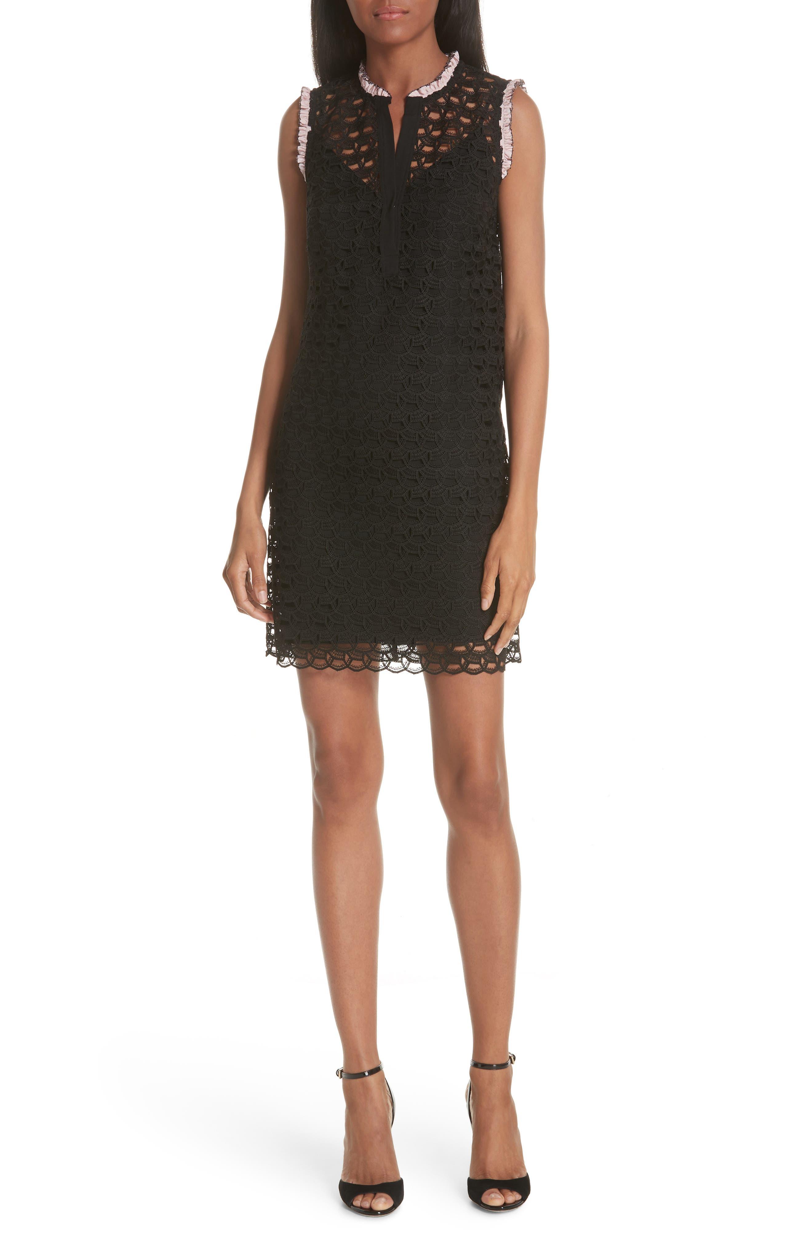 sandro Scallop Lace Dress