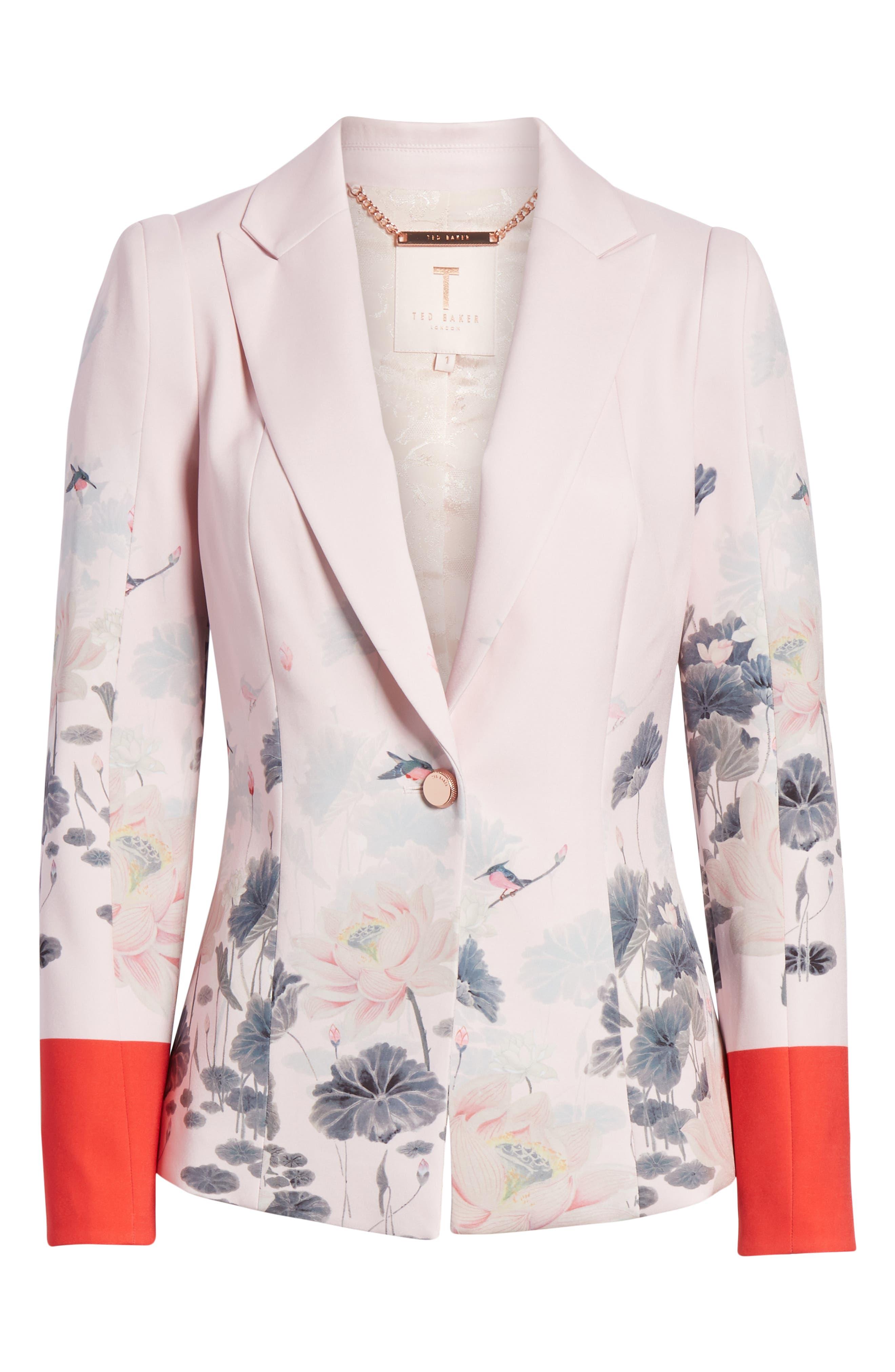 Naimh Lake of Dreams Tailored Jacket,                             Alternate thumbnail 6, color,                             Pink