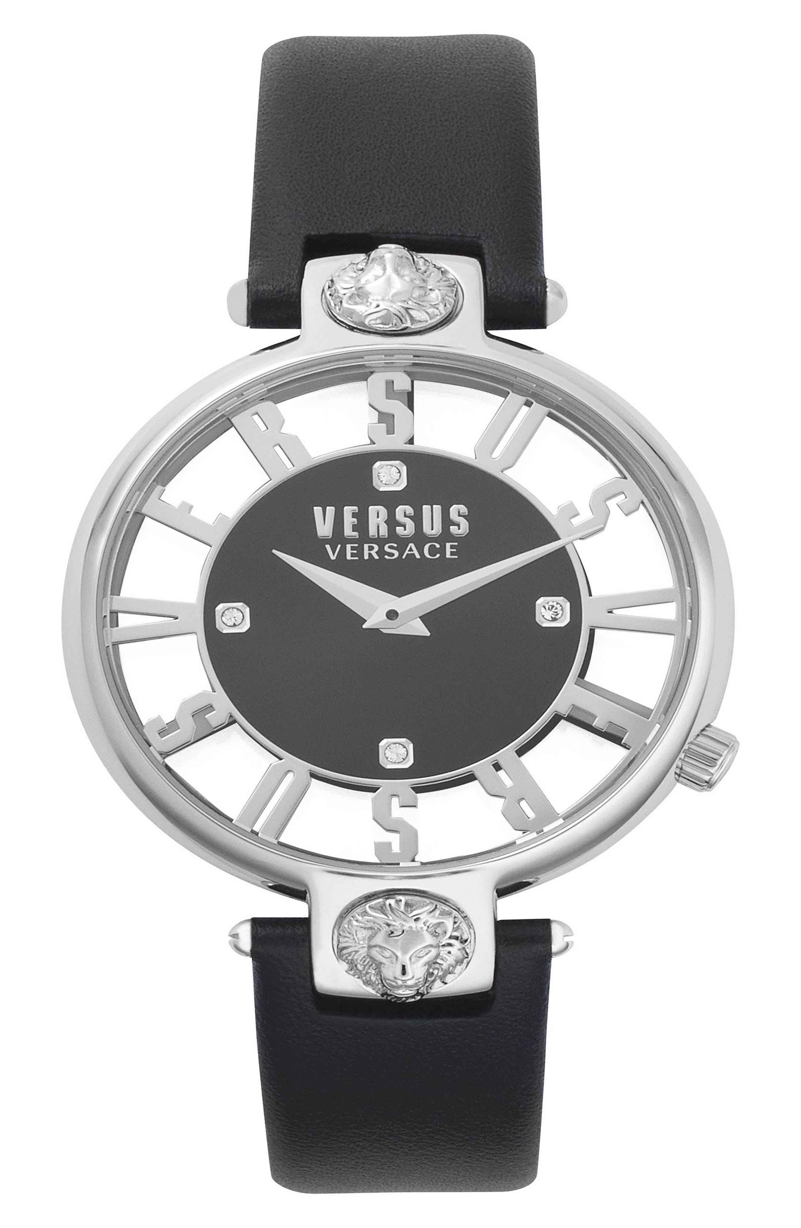 VERSUS by Versace Kristenhof Leather Strap Watch, 34mm